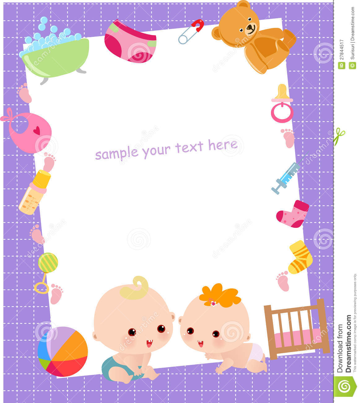 cute baby frame royalty free stock photography image 27844517