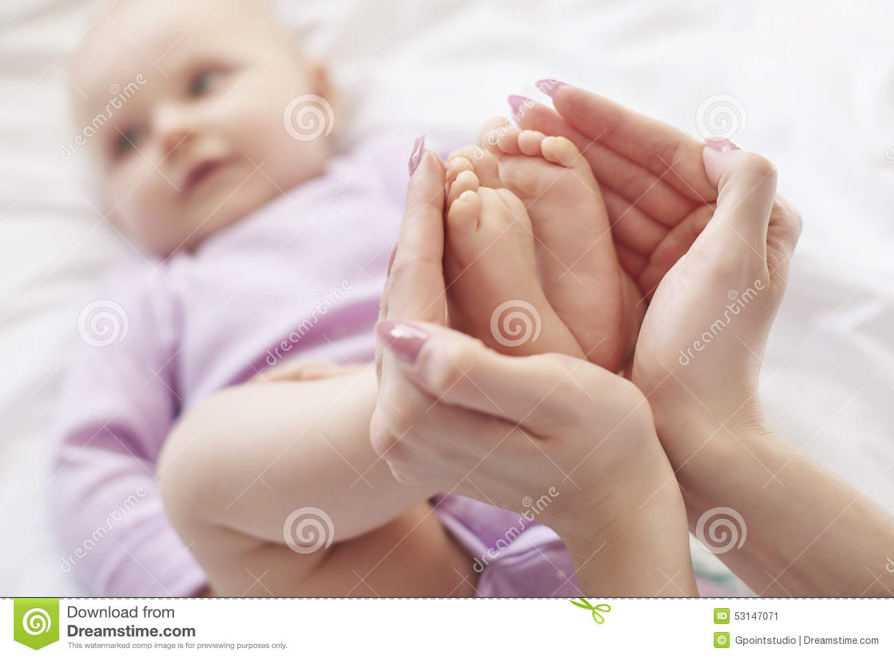 cute baby girl stock image. image of holding, inside - 53147071