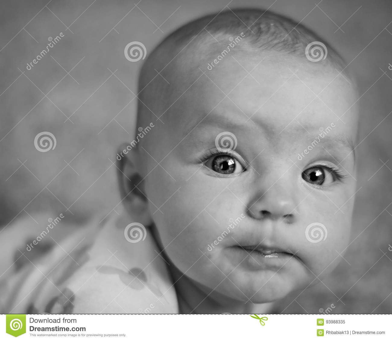 Cute baby girl stock image image of onesie white smiling 93988335