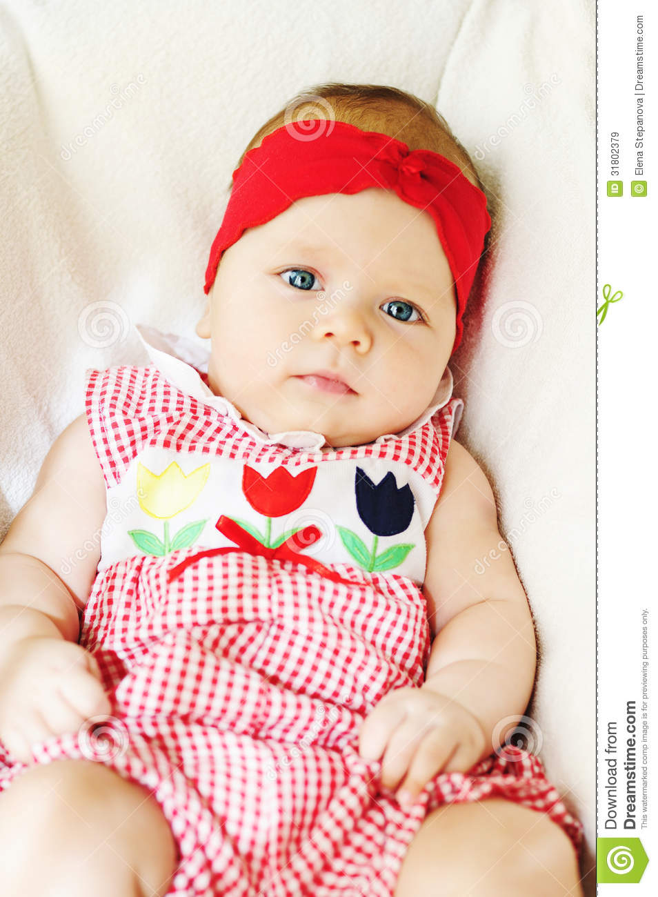 cute baby girl stock image. image of eyes, clean, dress - 31802379