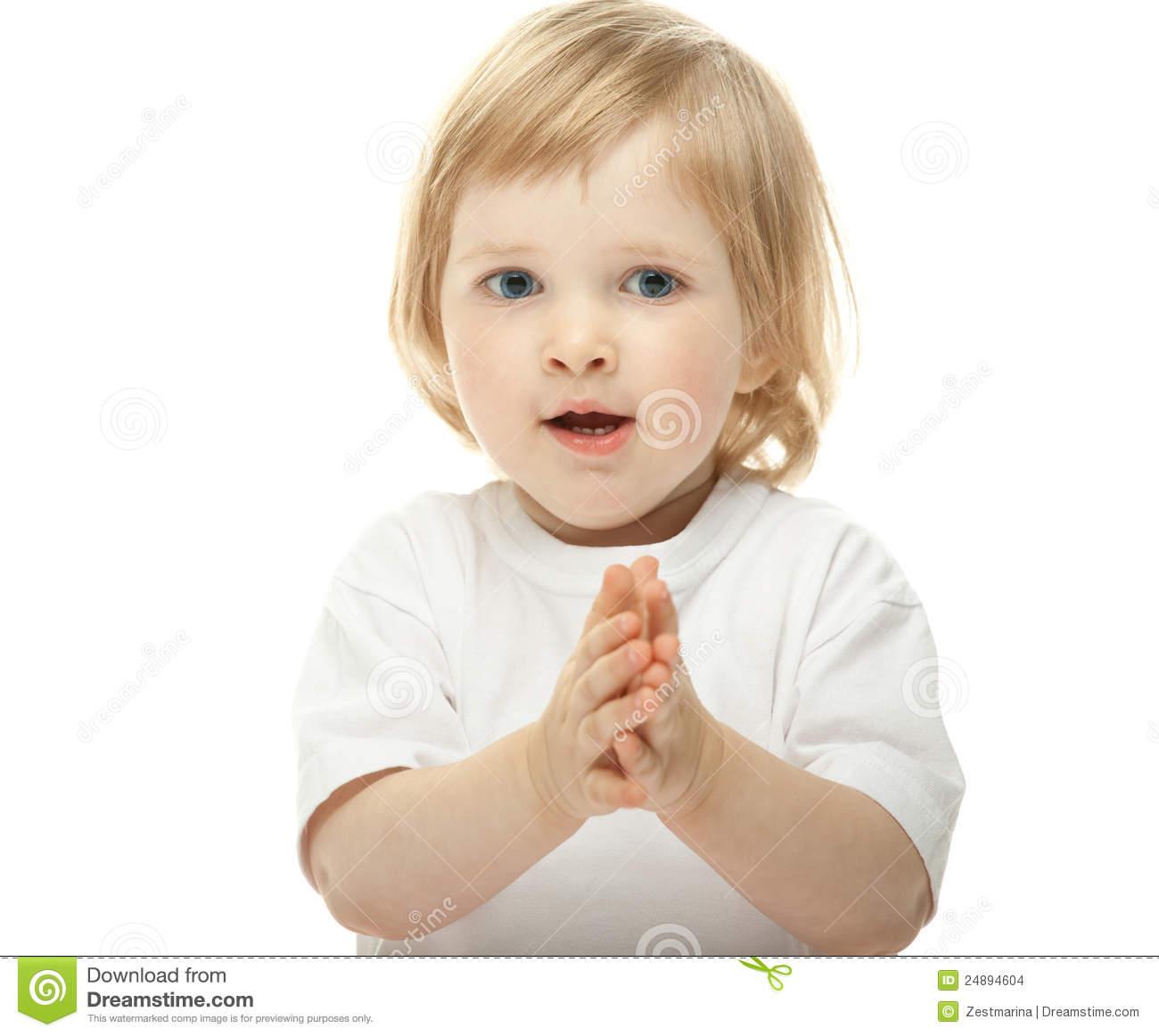 Cute Baby Girl Clapping Her Hands Stock Images - Image: 24894604