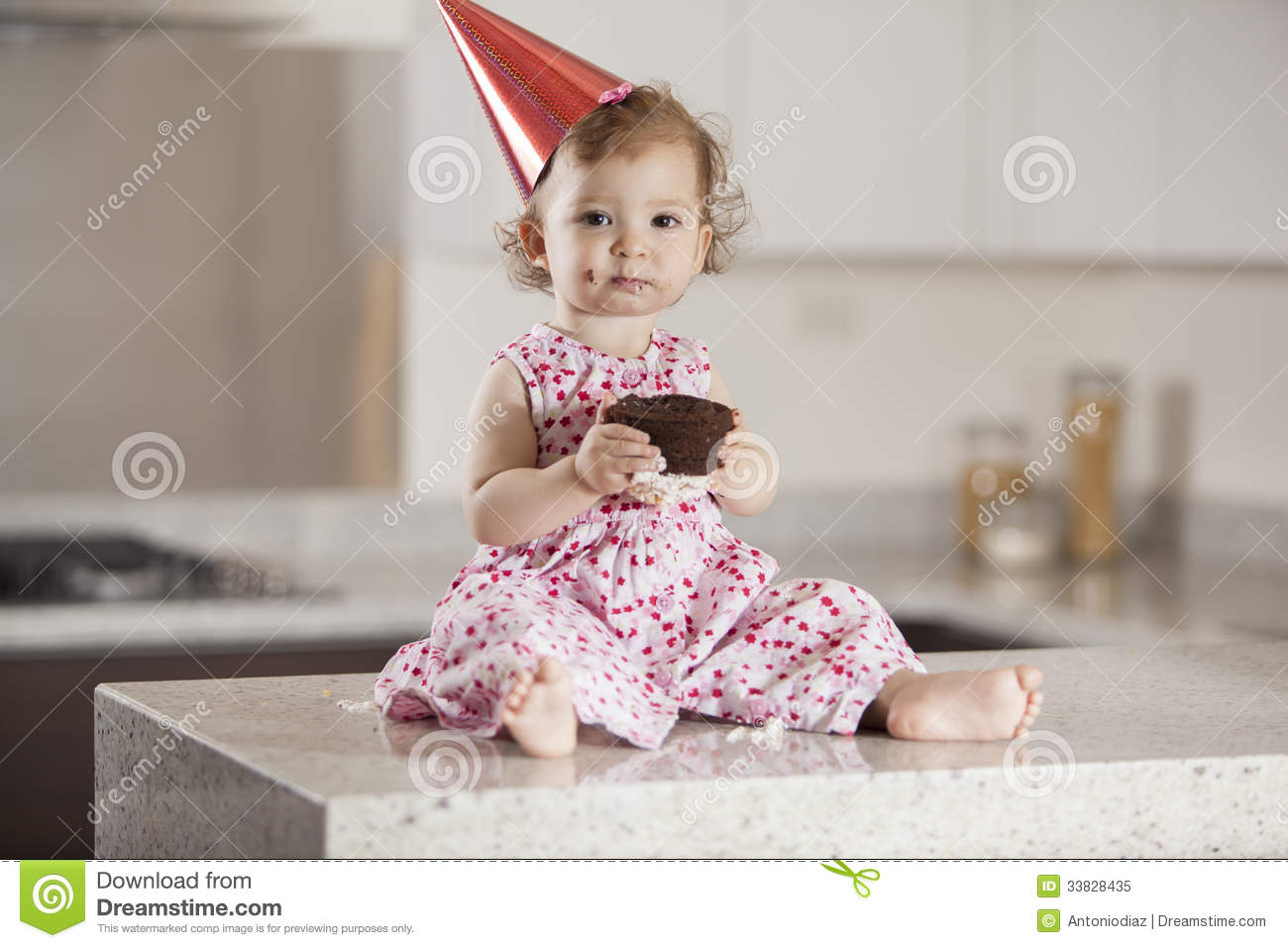 cute baby girl eating cake stock photos - download 821 images