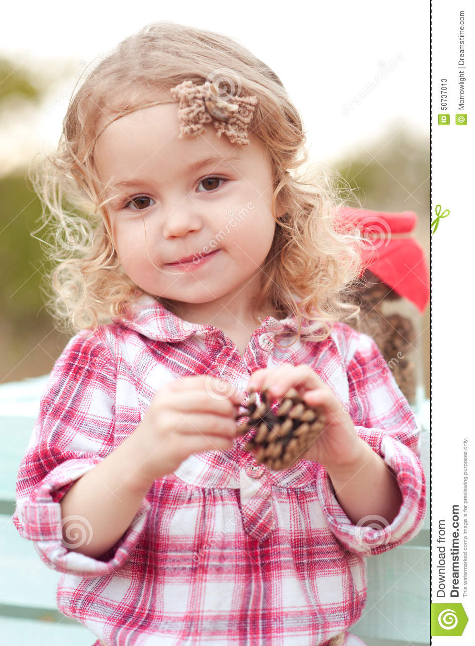 cute baby girl outdoors stock image. image of free, accessories