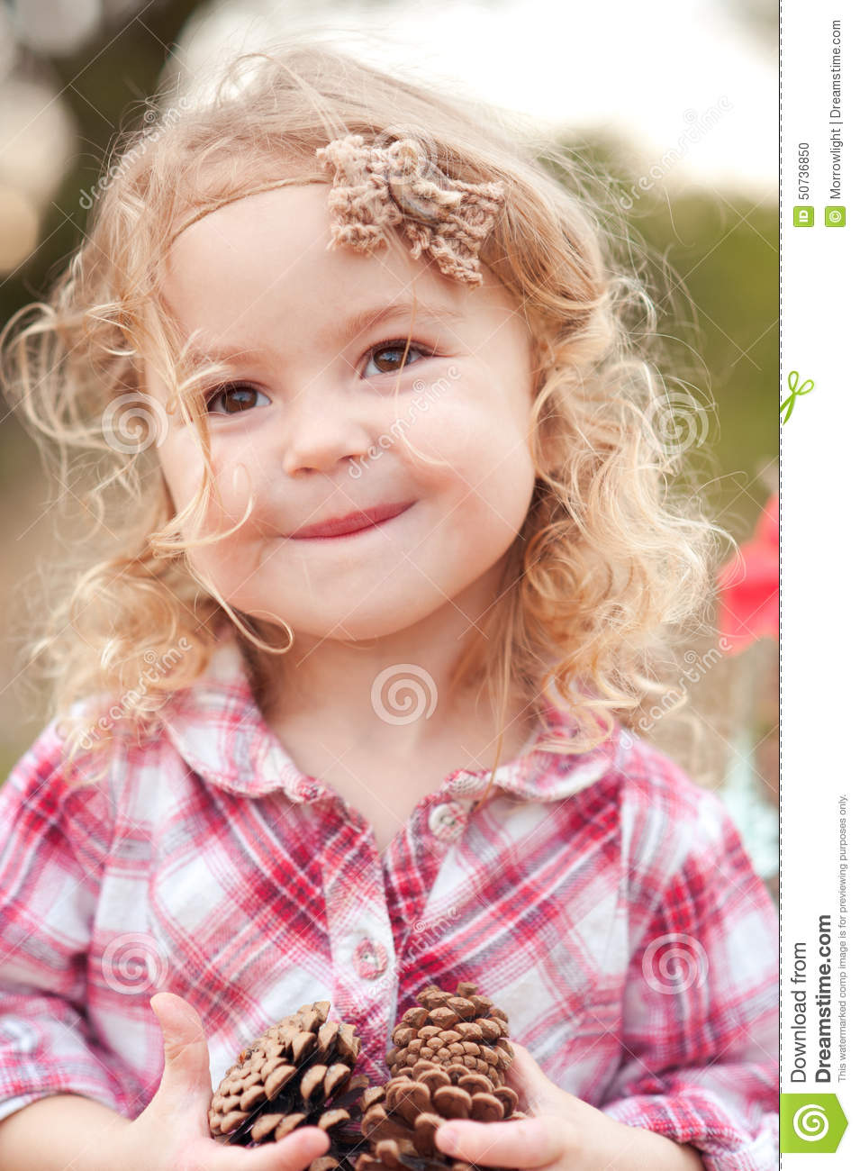 Adorable Four Year Boy With Big Blue Eyes Stock Image: Cute Baby Girl Outdoors Stock Photo