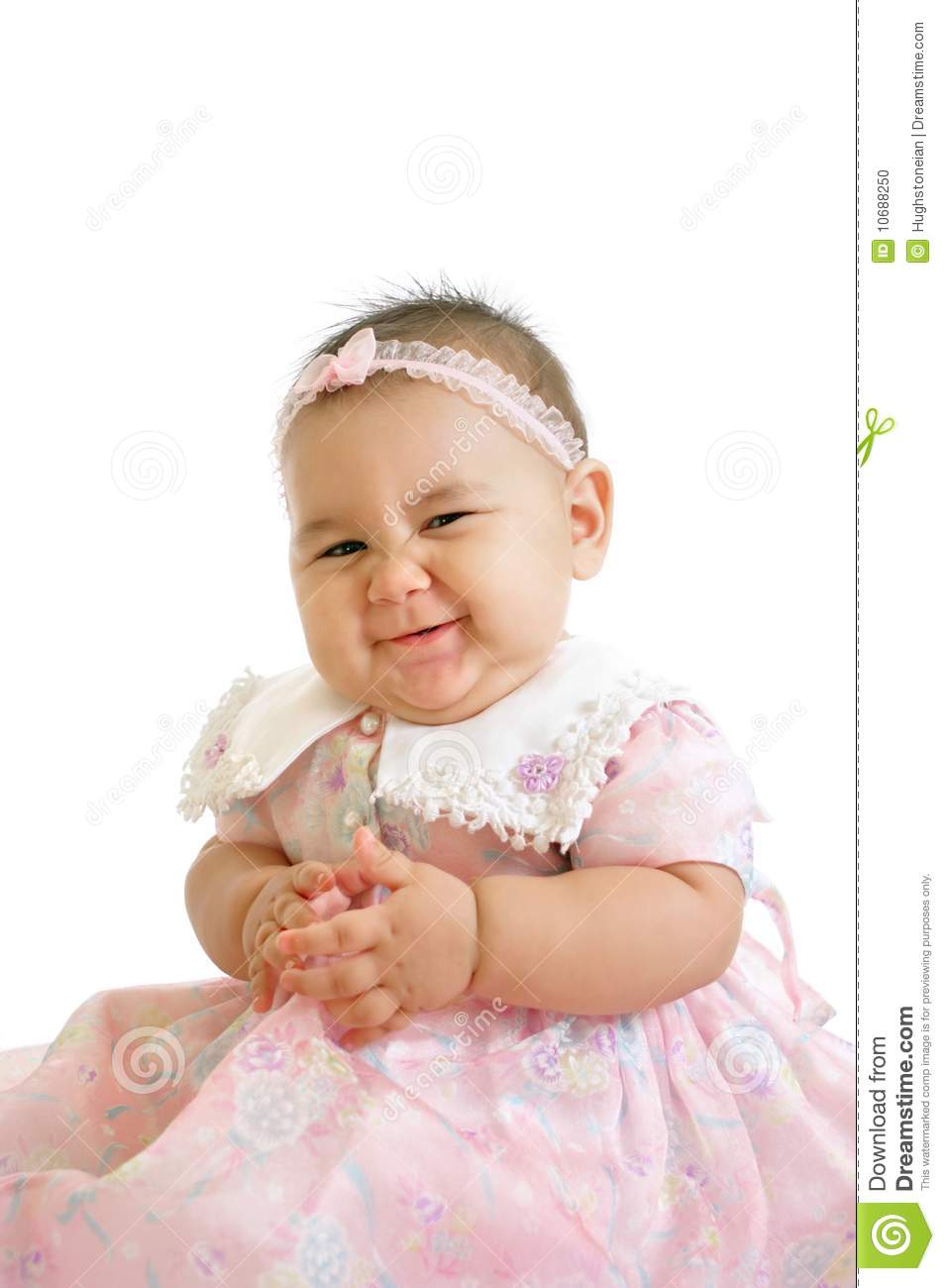 Cute Baby Girl In Pink Stock Photo Image 10688250