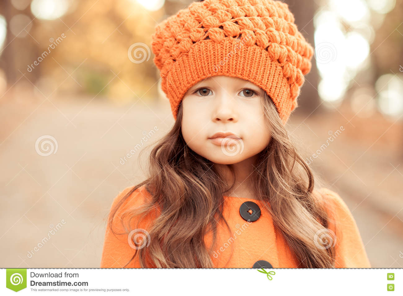 c1eed2ee2 Cute Baby Girl Posing Outdoors Stock Image - Image of light
