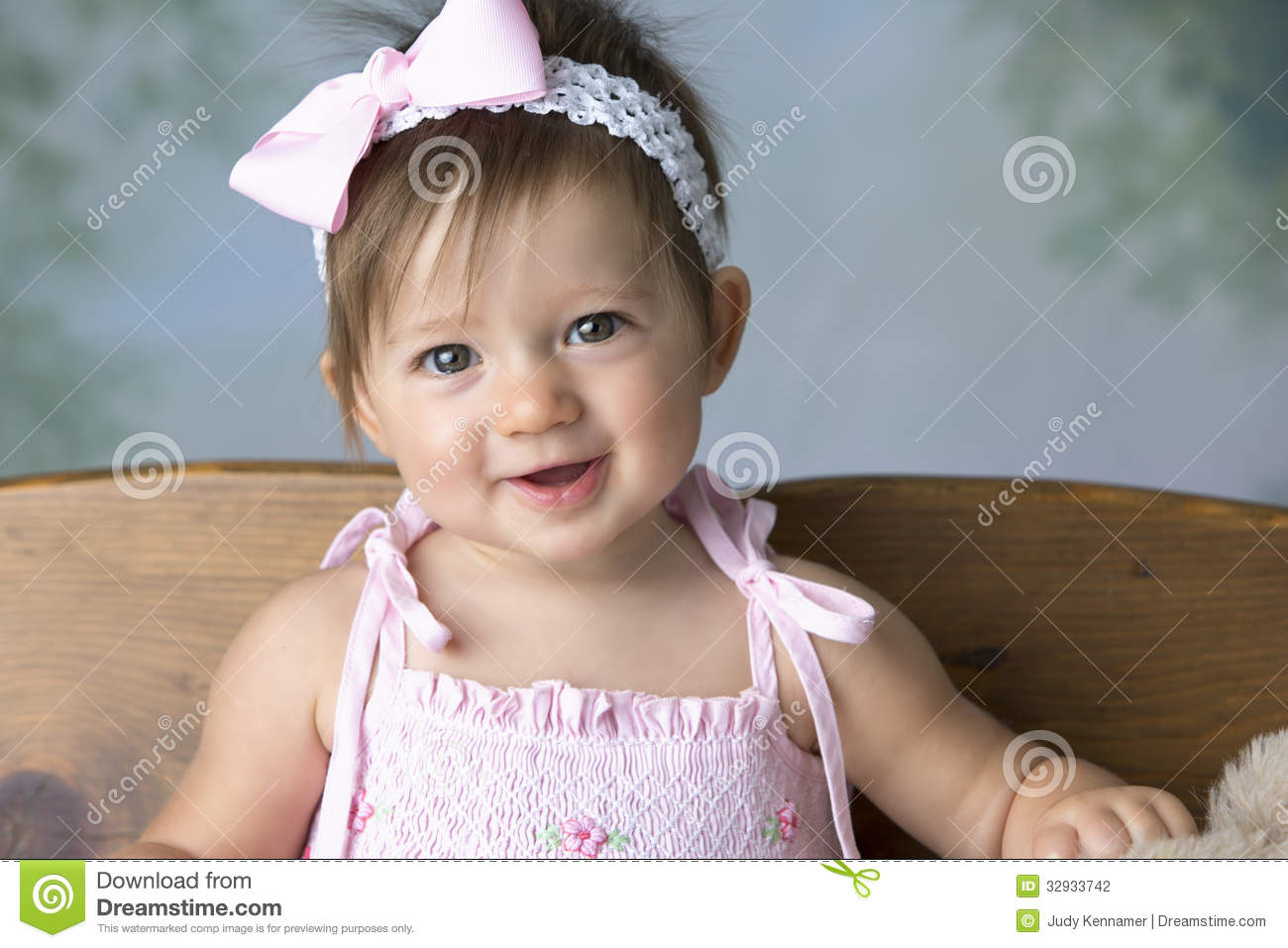 cute baby girl smiling stock photo. image of infant, childhood