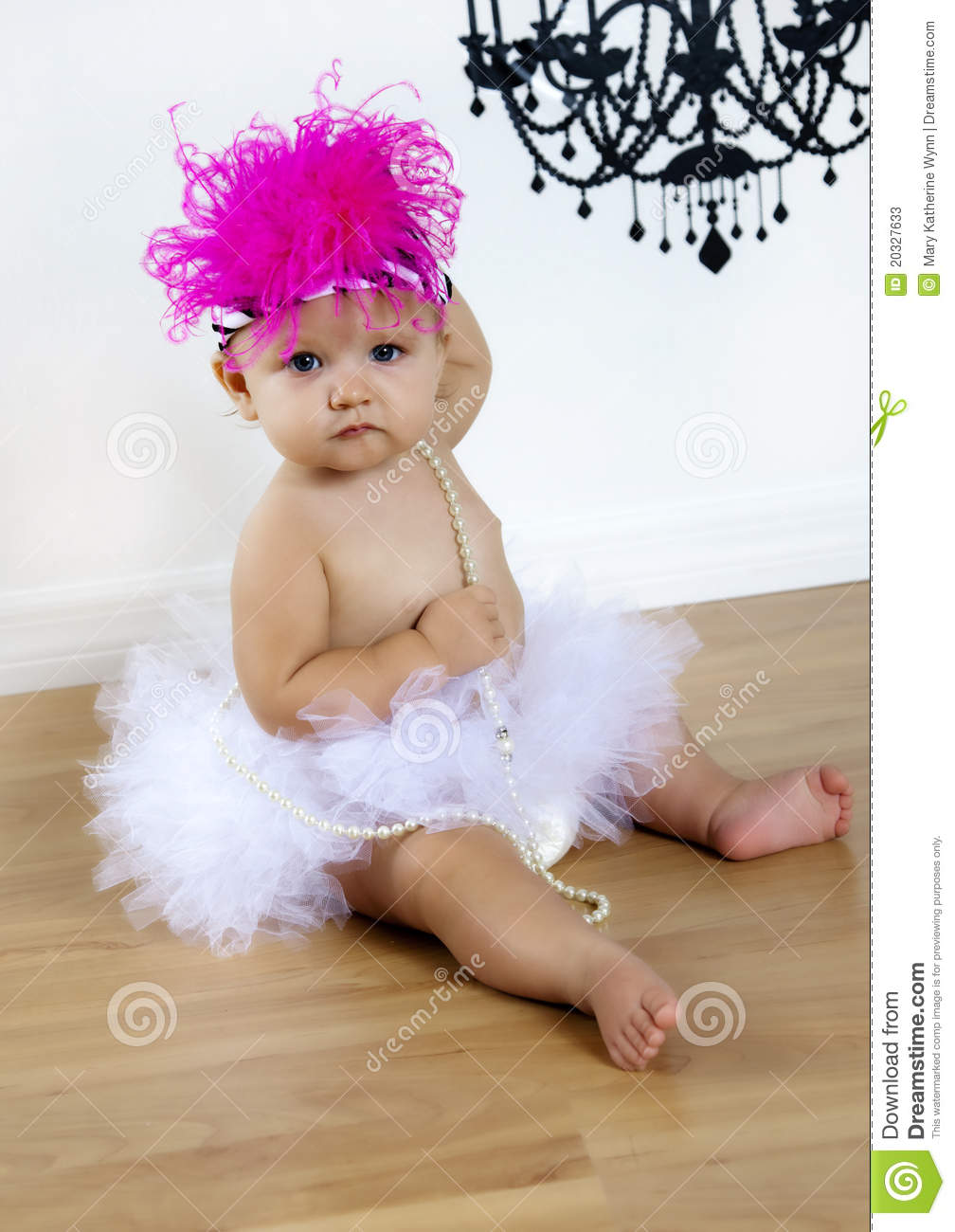 Cute Baby Girl In Tutu And Hat Stock Image Image 20327633