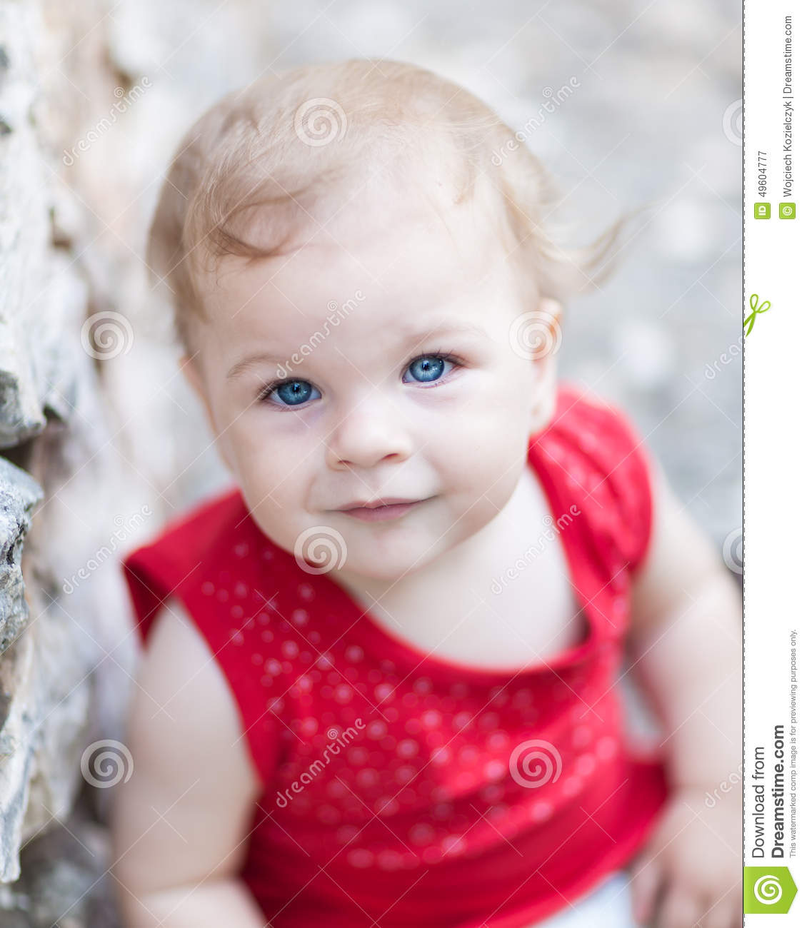 Cute Baby Girl Very Shallow Depth Of Field Stock Image Image Of
