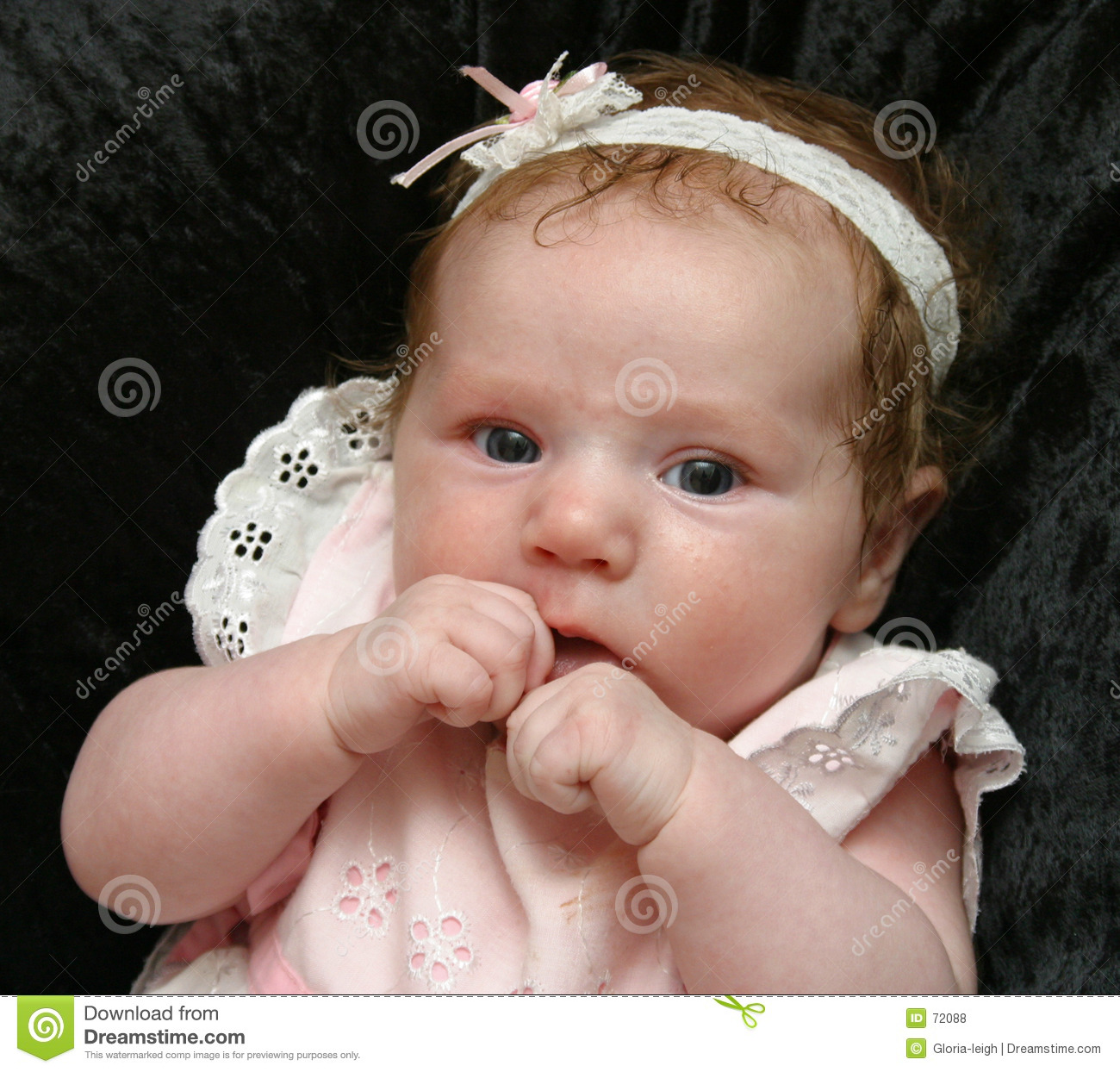 cute baby girl in white stock photo. image of cute, babies - 72088
