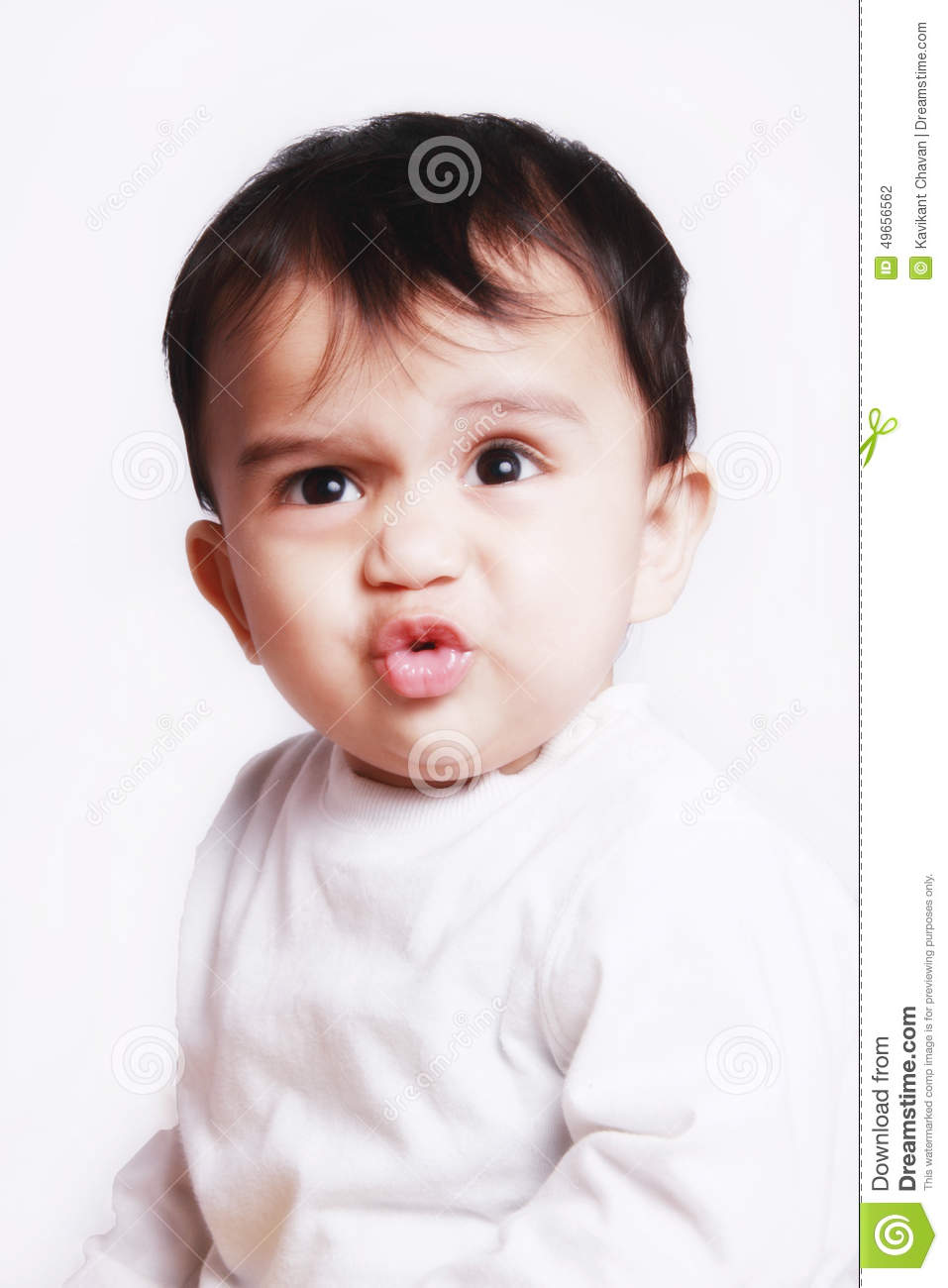 cute baby giving funny expression stock photo - image of face, look