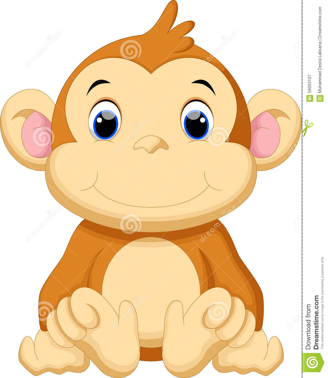 Cartoon baby monkey head