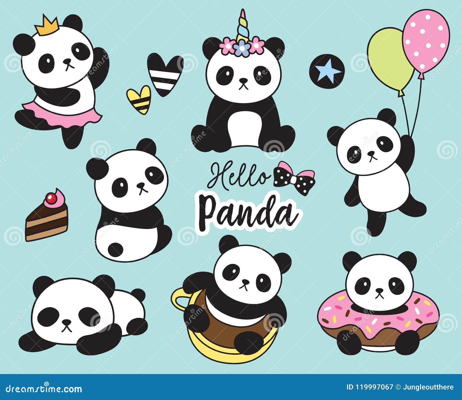 Cute Baby Panda Vector Illustration Stock Vector Illustration Of Panda Illustration 119997067