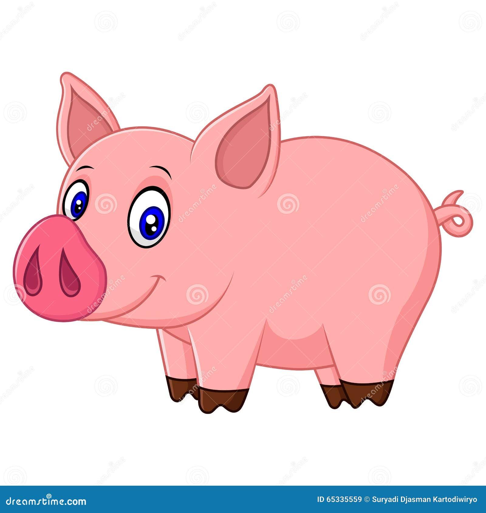 cute baby pig cartoon stock illustration image 65335559 cute pig clipart free cute pig clip art for girl