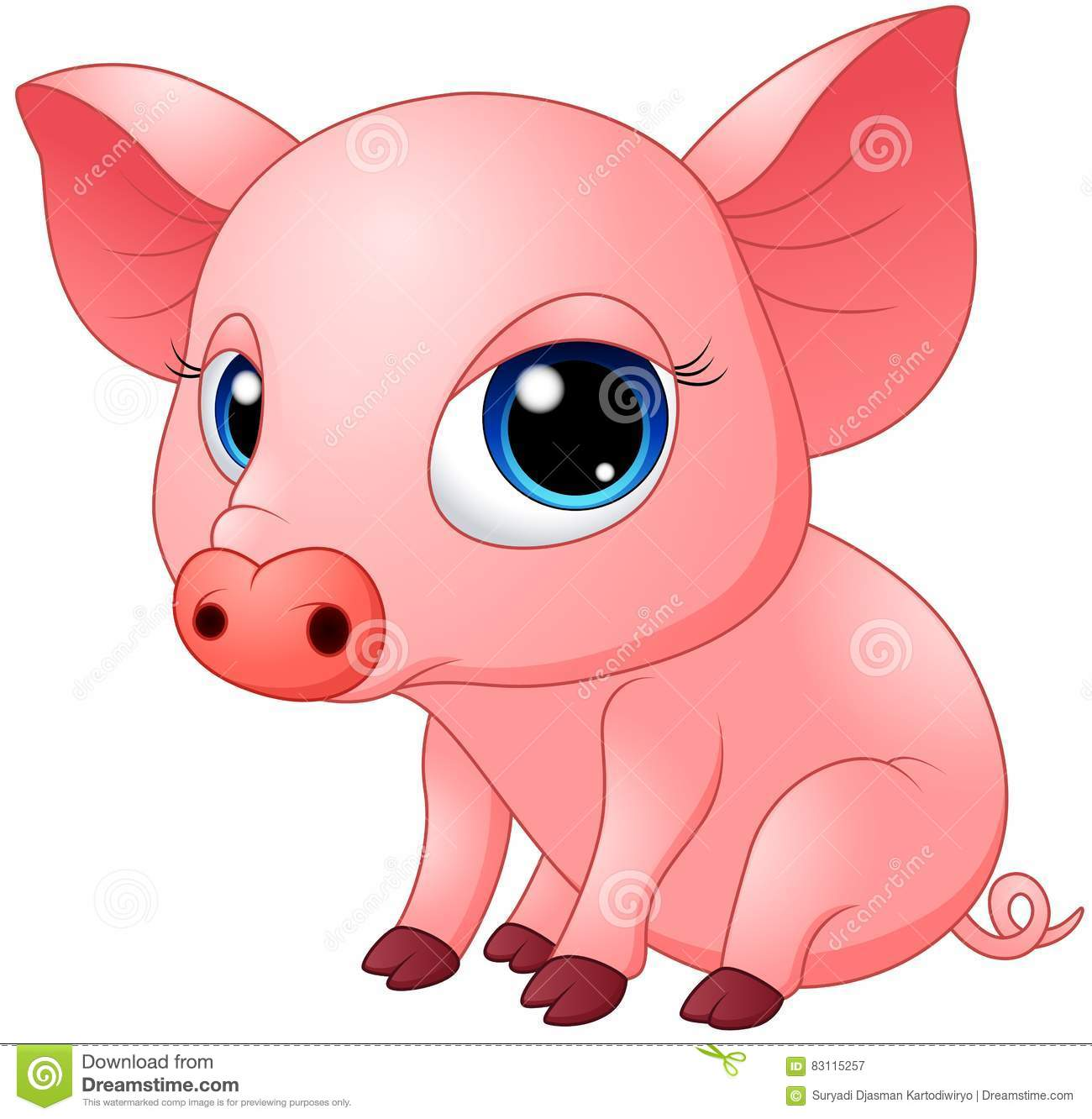 Cute Baby Pigs Clipart