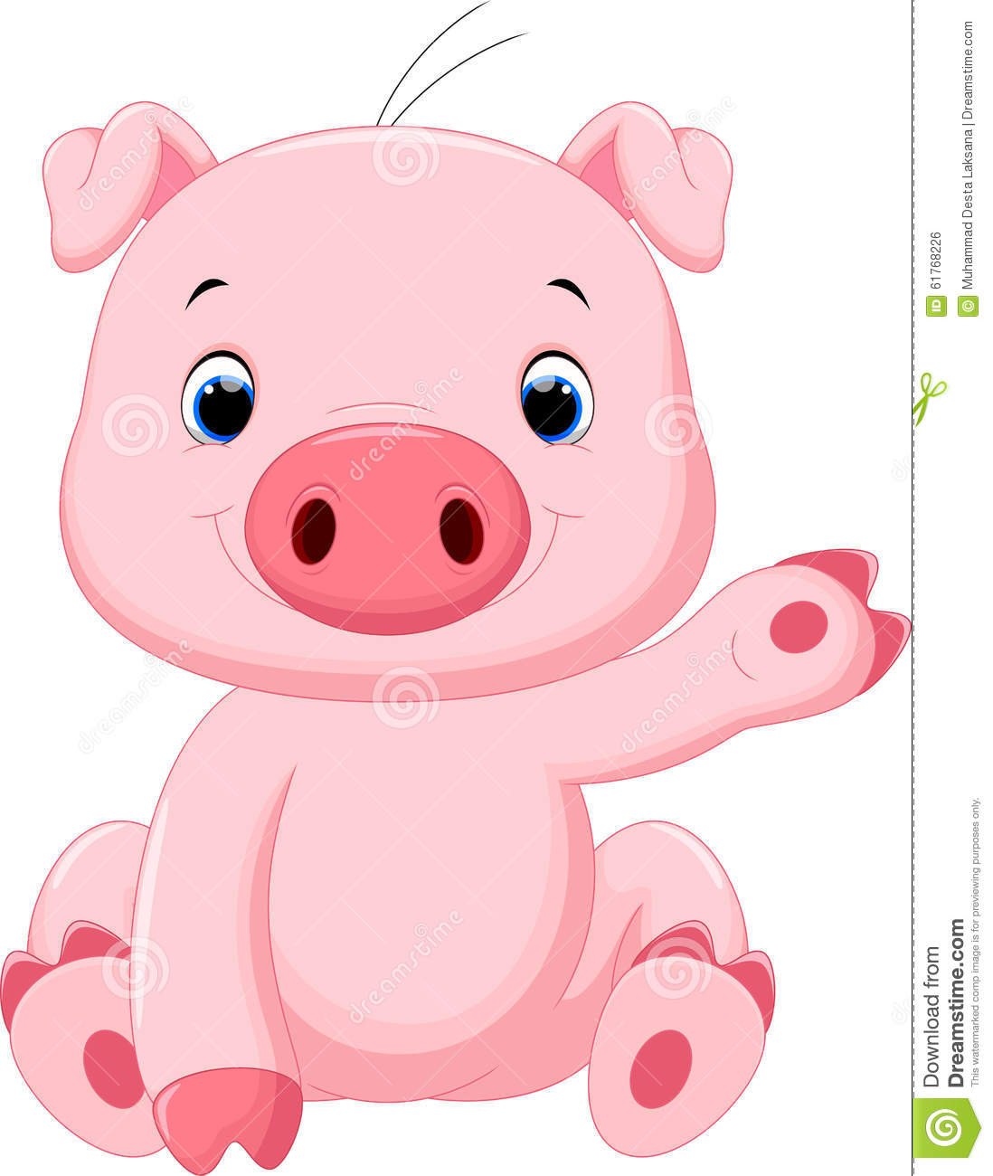 Stock Illustration Cute Baby Pig Cartoon Vector Illustration Image6176...