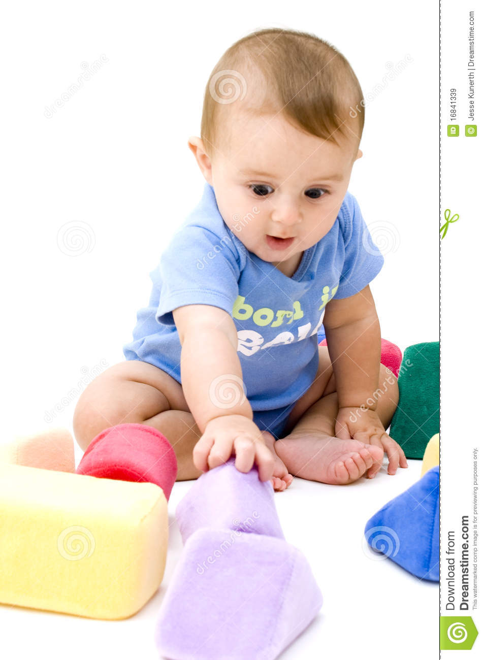 Cute Baby Toys : Cute baby playing with toys stock image of