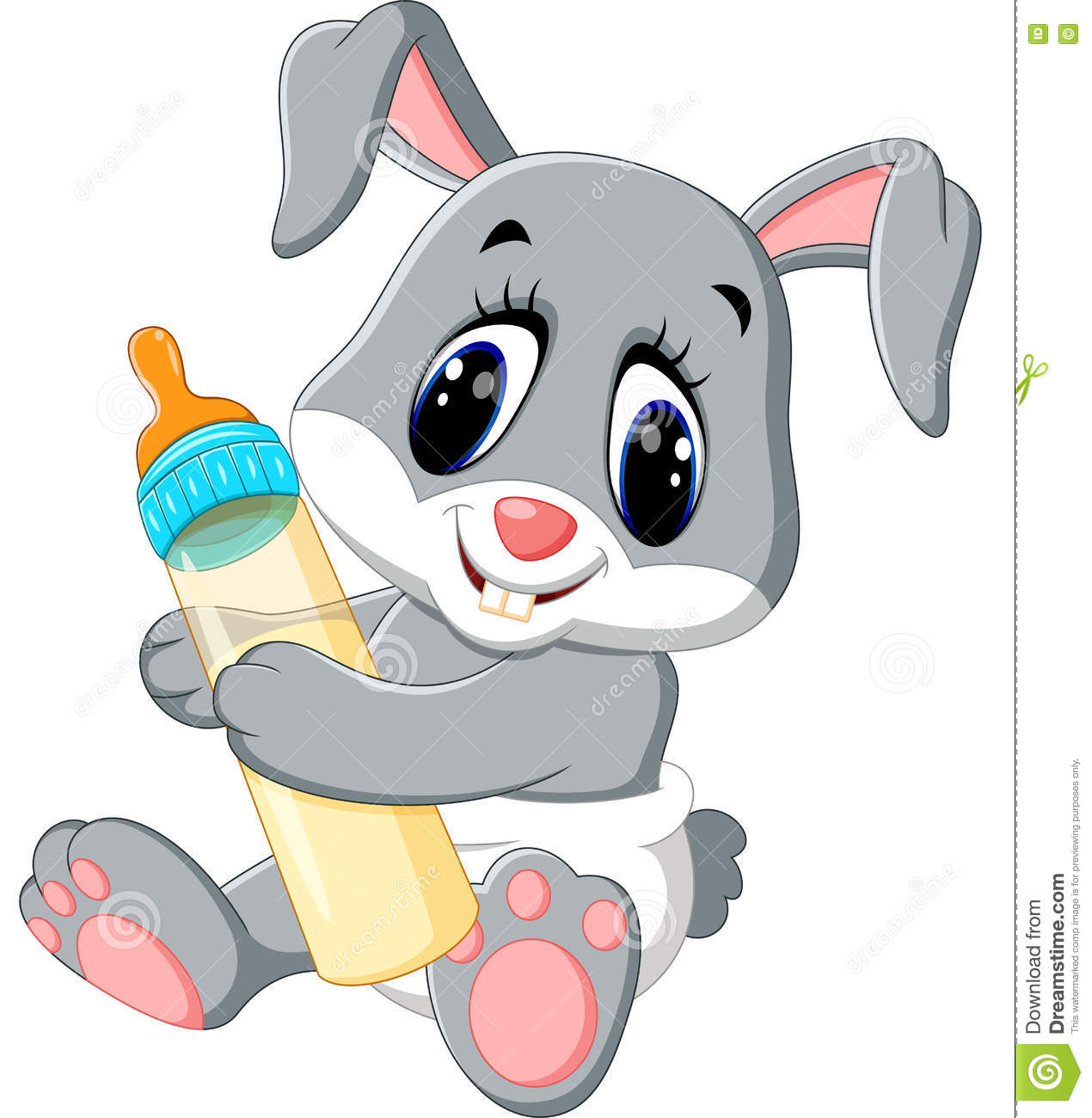 Stock Illustration Cute Baby Rabbit Cartoon Illustration Image71796543