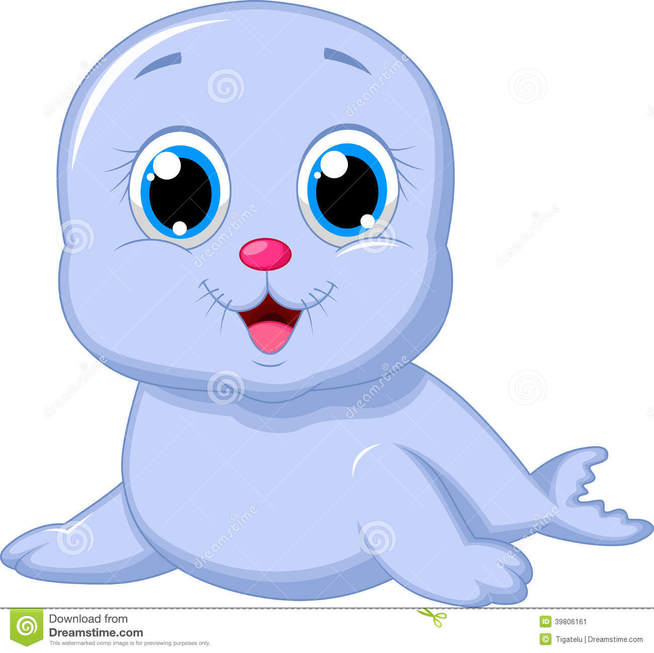 Cute baby seal cartoon stock vector illustration of baby 39806161 voltagebd Image collections