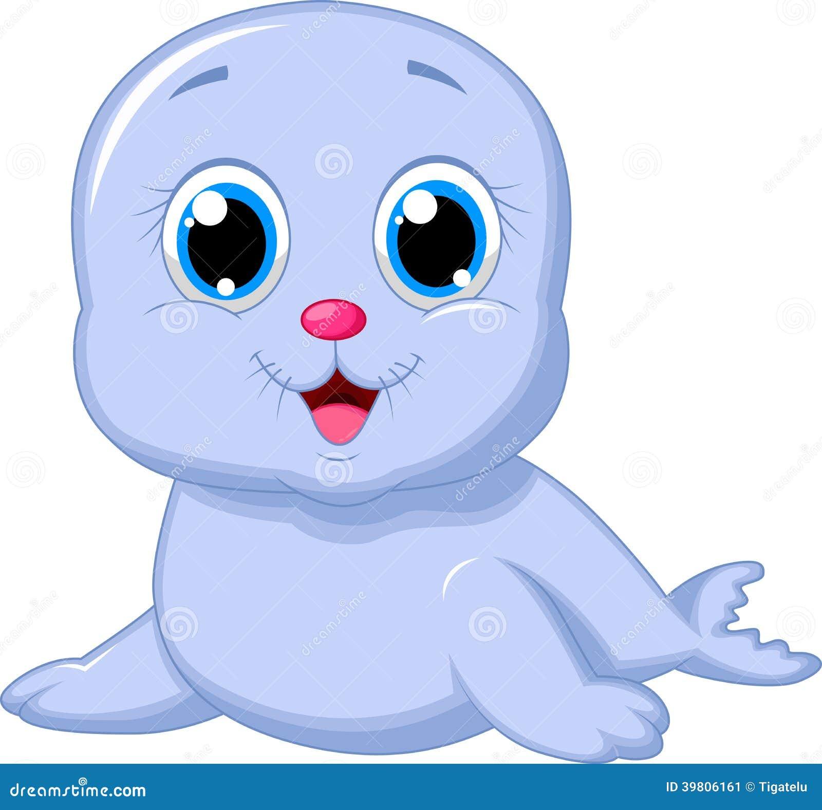 Cute Baby Seal Cartoon Stock Vector Image 39806161