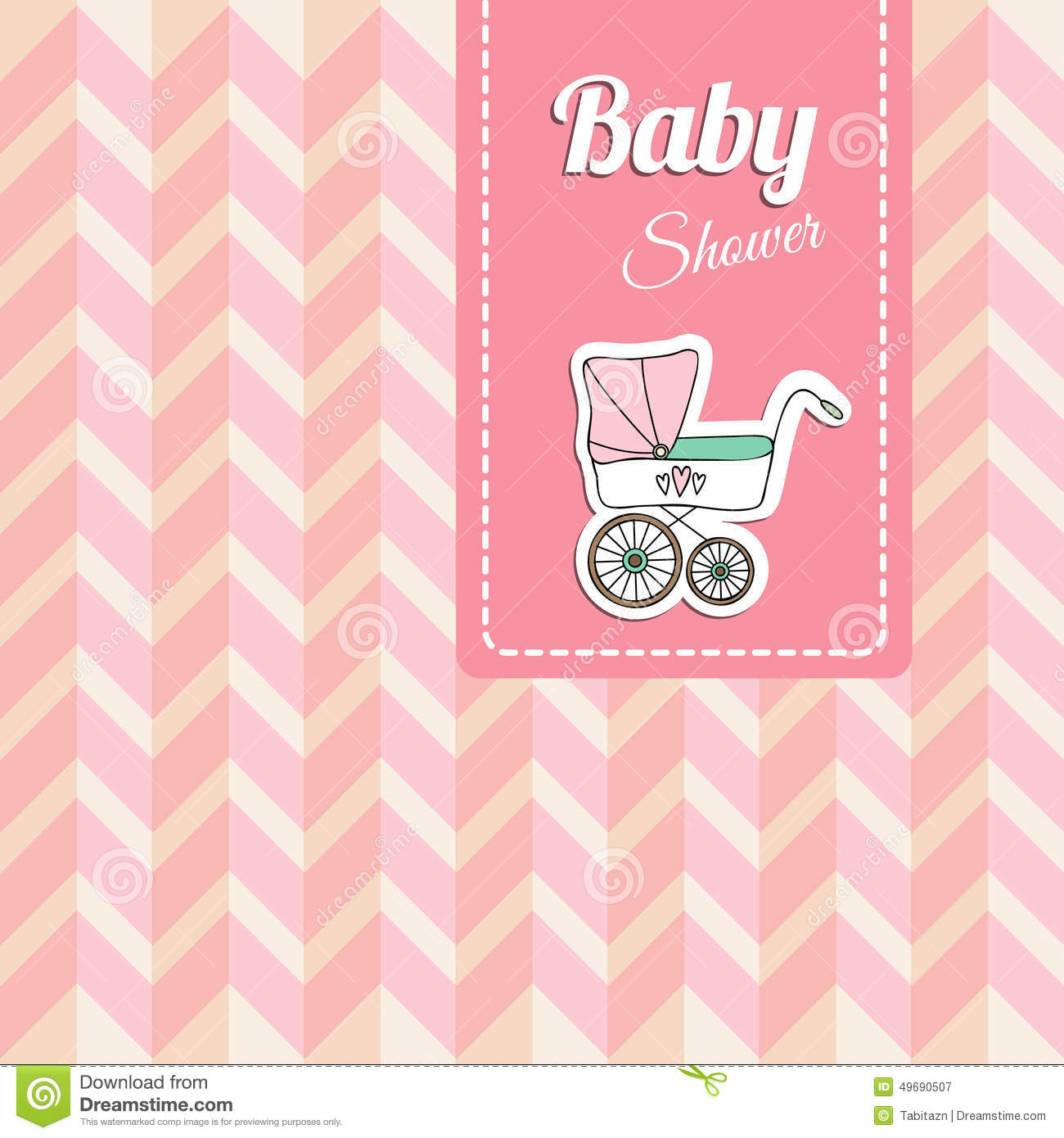 cute baby shower card invitation