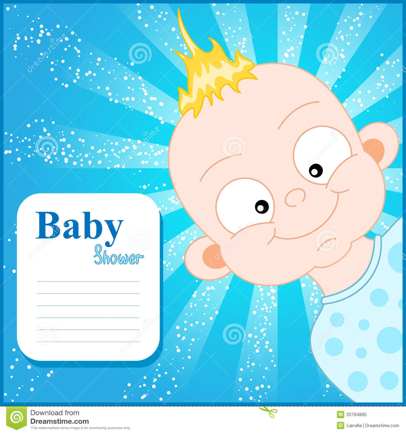 Cute Baby Shower Invitation Template Stock Illustration ...