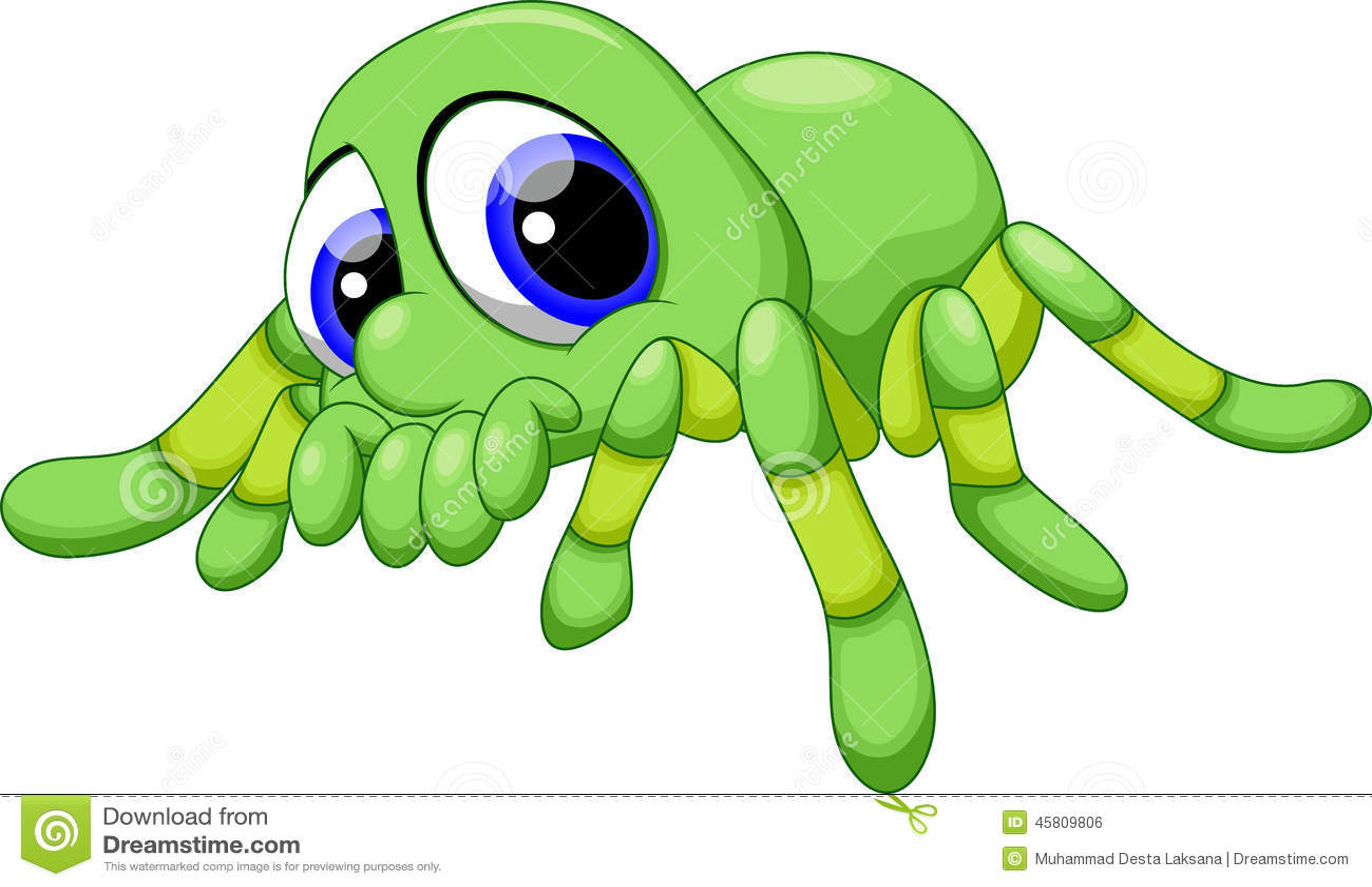 Cute Baby Tarantula Cartoon Stock Illustration - Image: 45809806