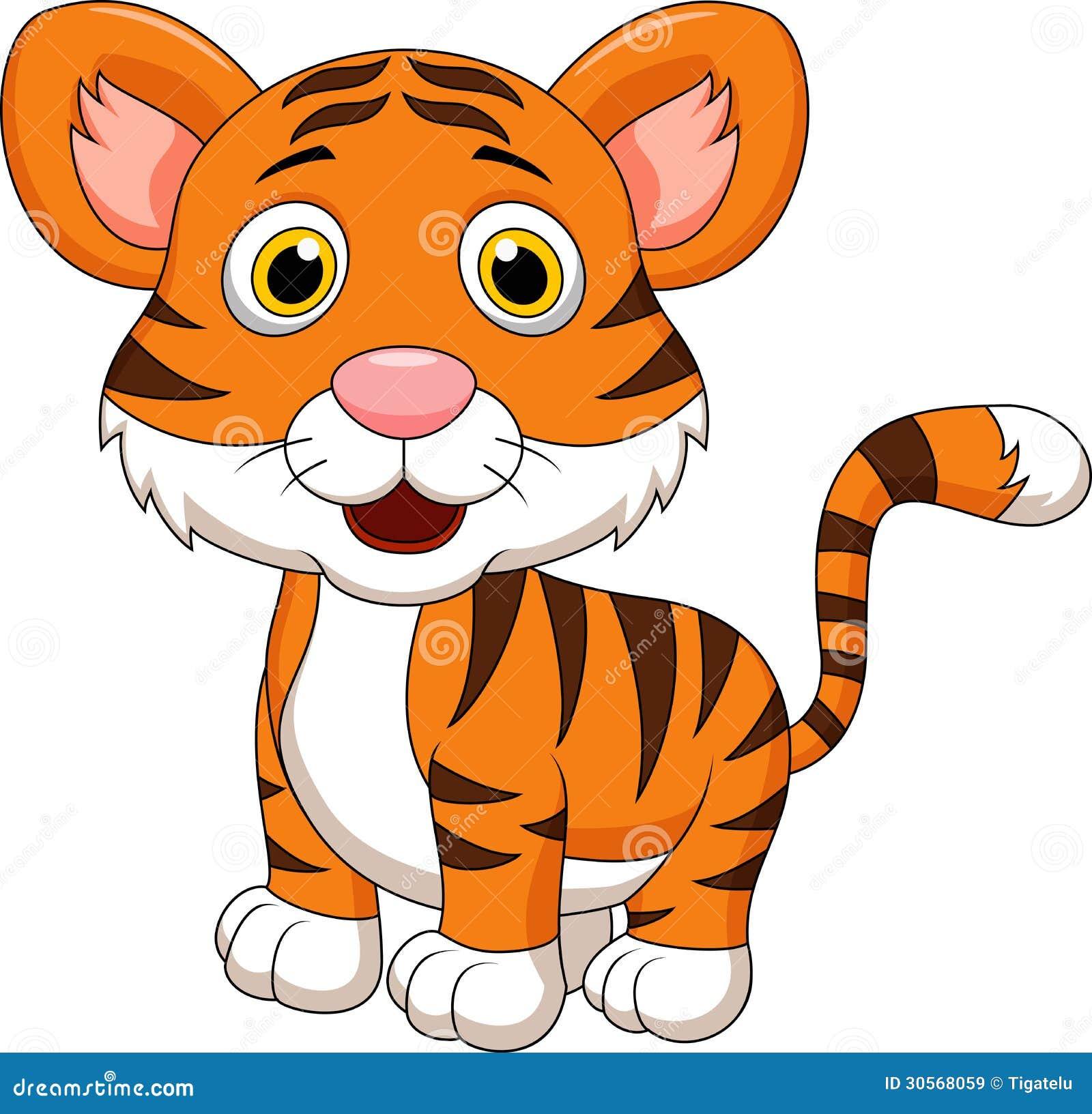 Cute baby tiger cartoon stock vector. Illustration of ...