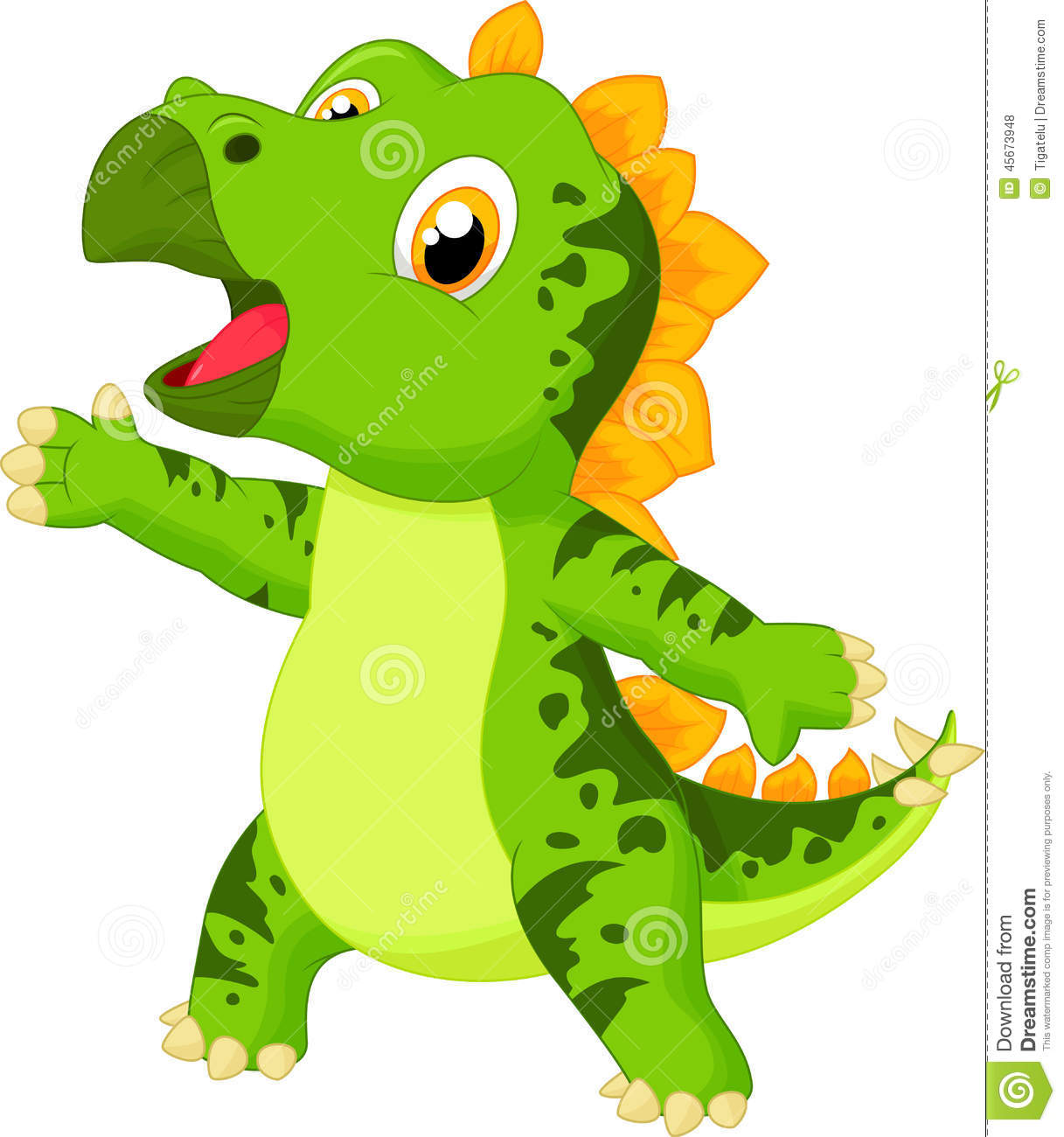 cute baby triceratops cartoon stock vector image 45673948