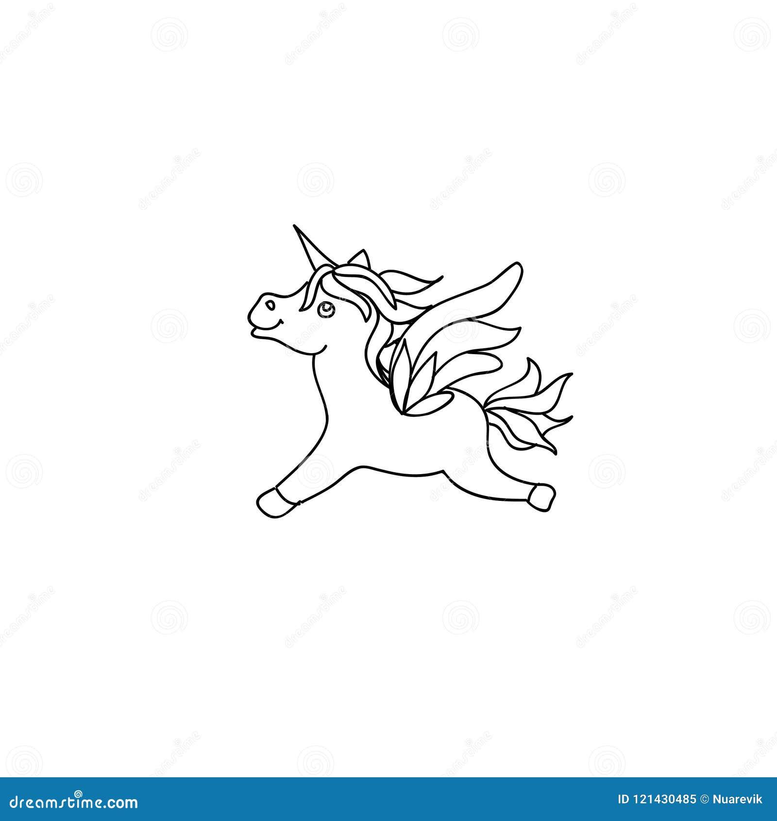 cute baby unicorn pony kids coloring