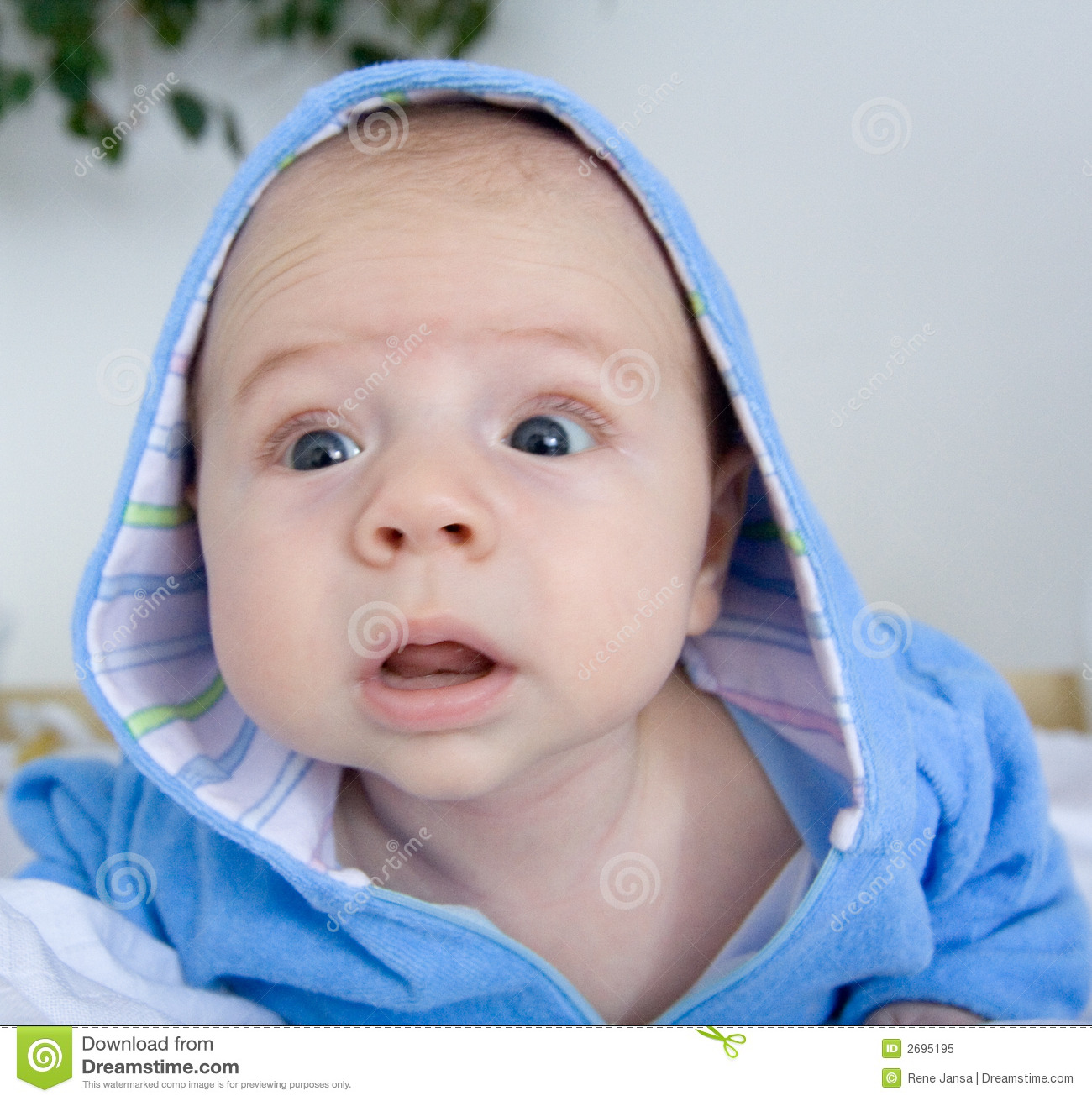 Cute baby wondering stock image. Image of face, toddler ...