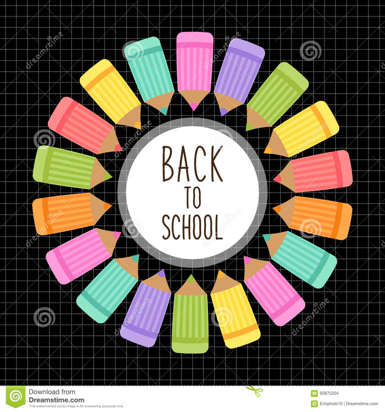 Cute Back To School Theme Frame Stock Vector Illustration Of Party