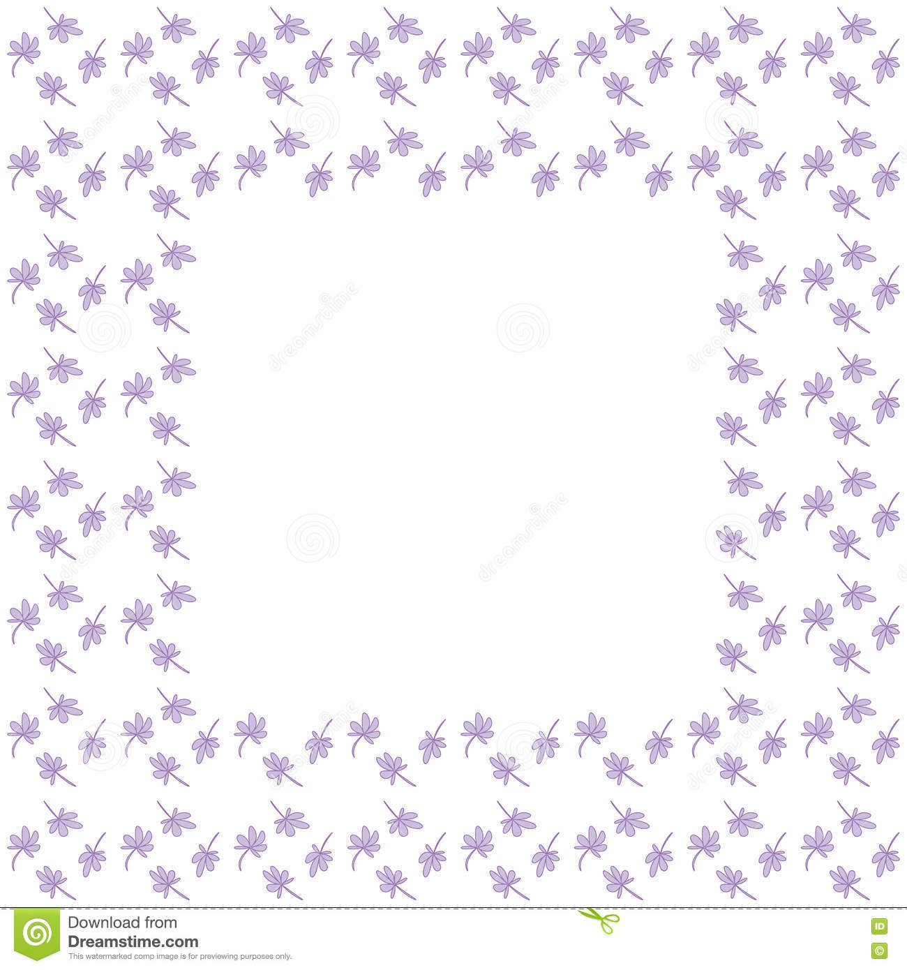 Cute background border frame with leaves grid