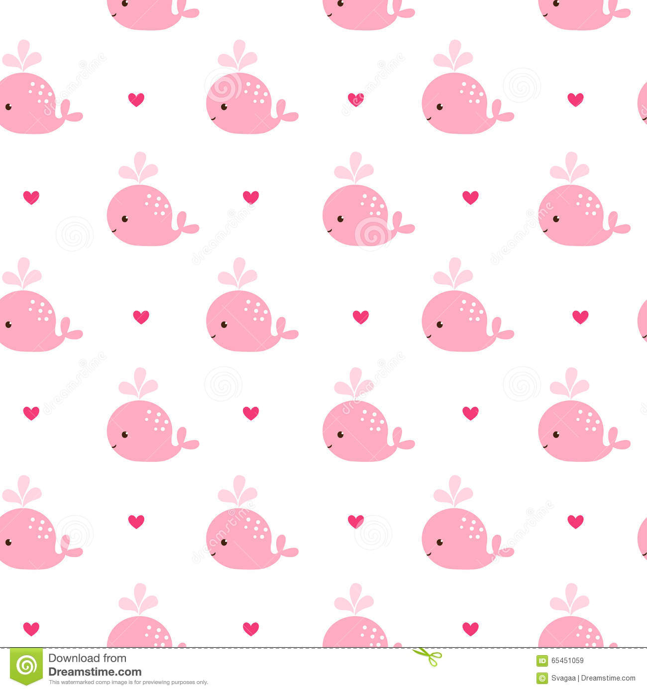cute background with cartoon pink whales stock illustration
