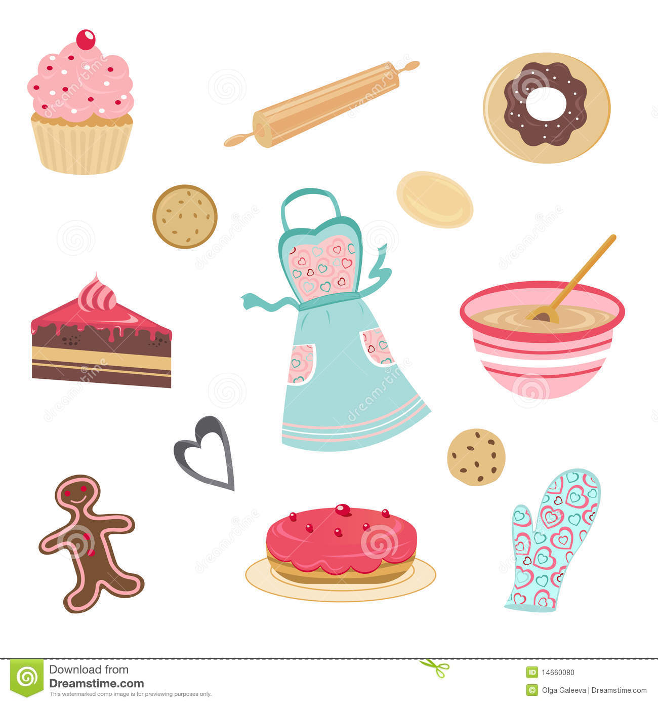 Cute Bakery And Kitchen Set