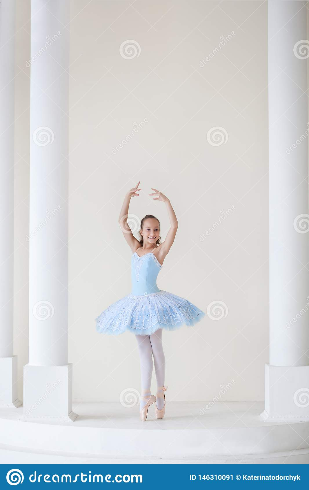 A Cute Ballerina In Ballet Costume And In Pointe Dances Near The Mirror Girl In The Dance Class The Girl Is Studying Ballet Bal Stock Image Image Of Dancer Cute 146310091