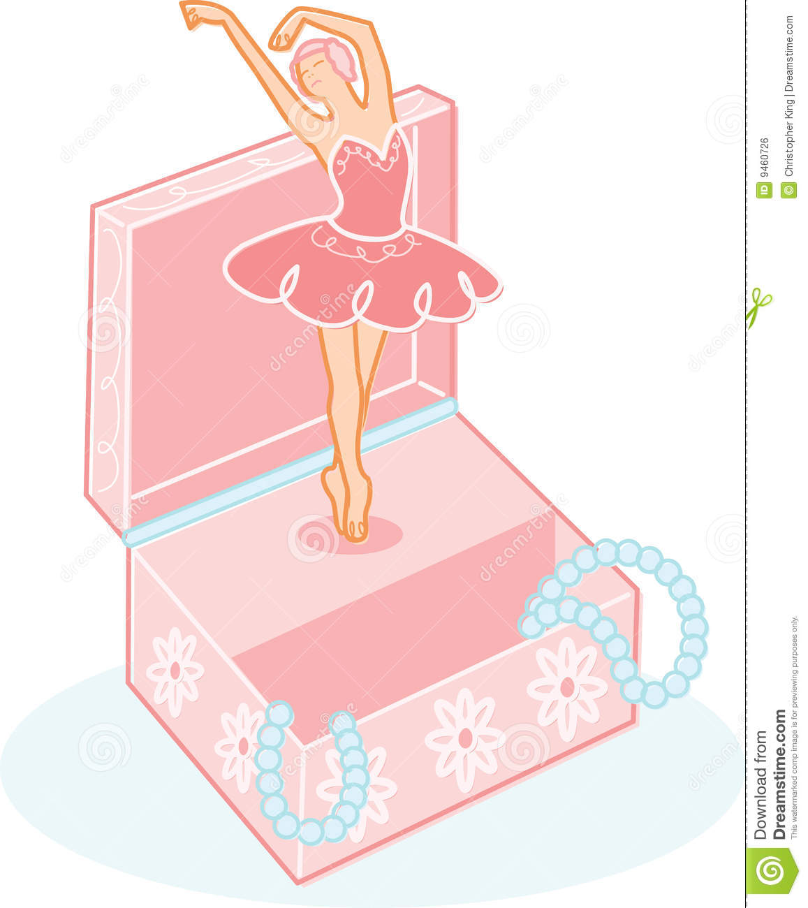 Cute Ballerina Jewelry Box Illustration Stock Vector Illustration