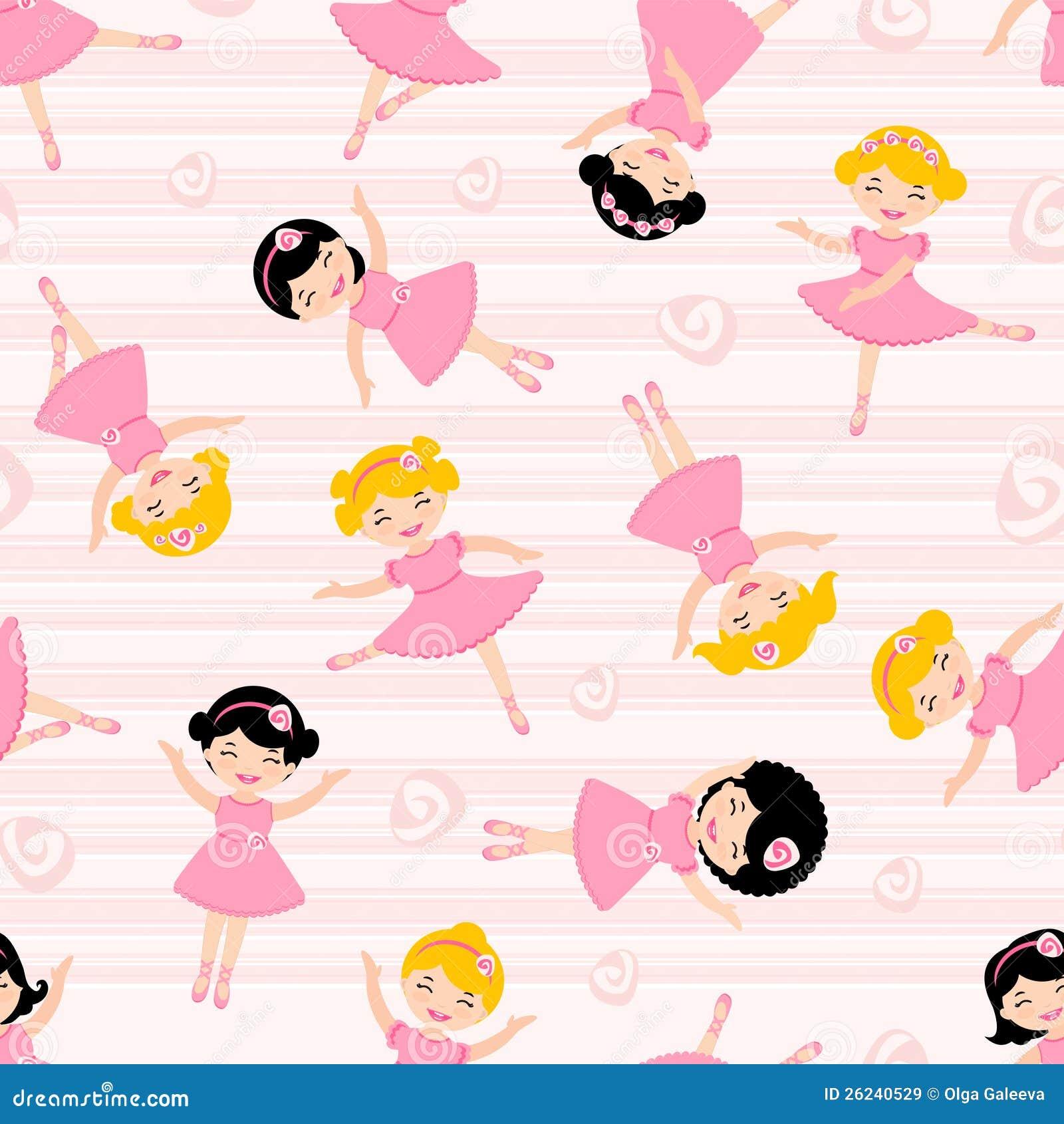 Seamless pattern of ballet dancers royalty free stock photography - Royalty Free Stock Photo Cute Pattern Seamless