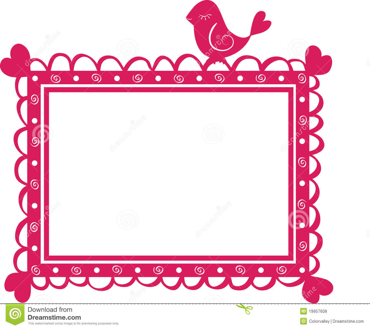 Cute Banner Frame With Bird Royalty Free Stock Photos Image