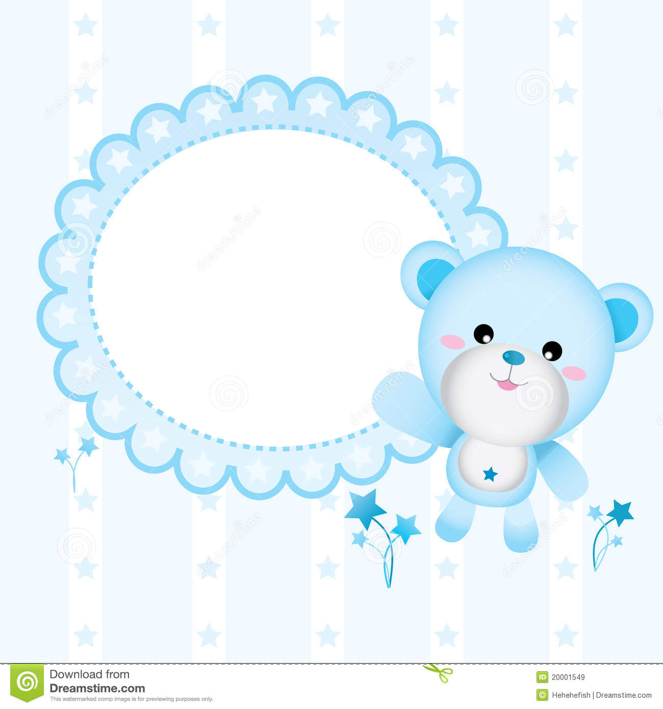Cute Bear for Baby Boy stock vector. Illustration of blue ...