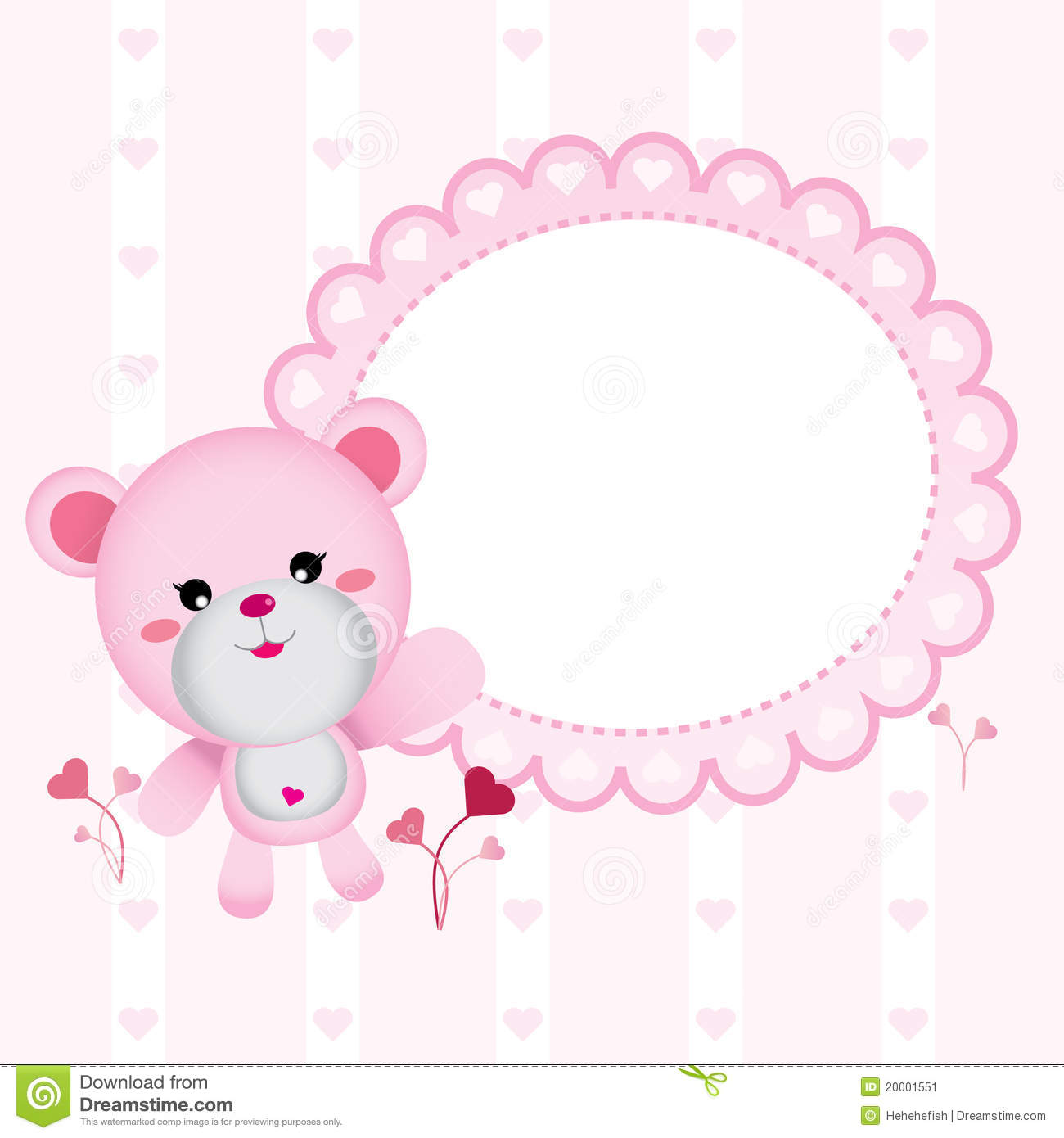 Cute Bear for Baby Girl stock vector. Image of gift, baby ...