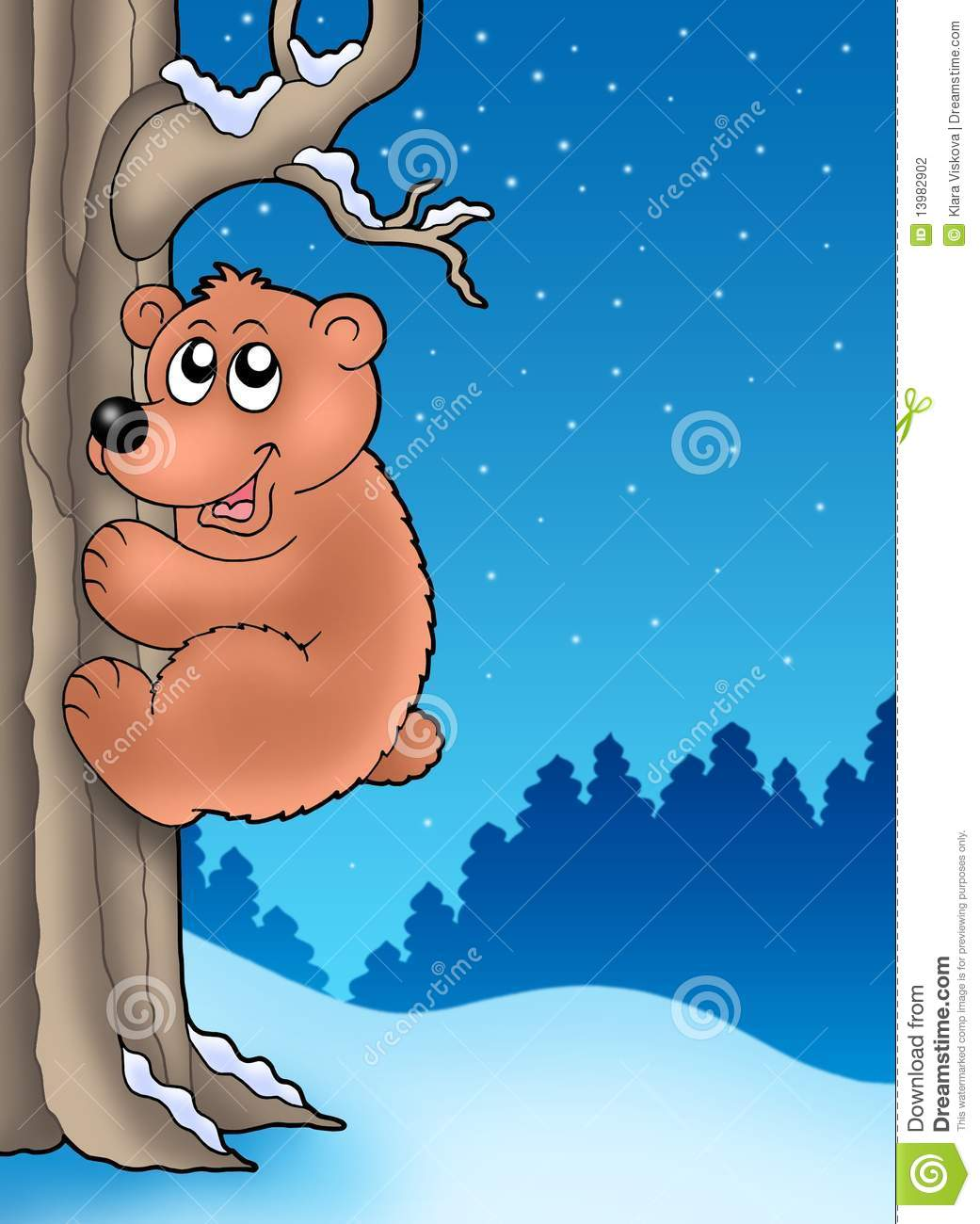 Kid Climbing Tree Cartoon Kid Climbing Tree