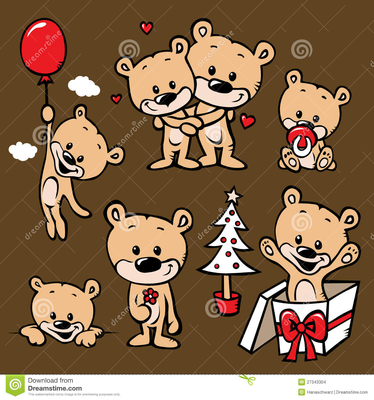 Cute bear family cartoon stock vector. Illustration of ...