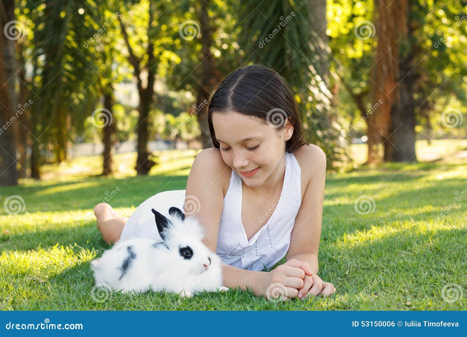 Cute Beautiful Smiling Teen Girl Looking At White-Black -3565