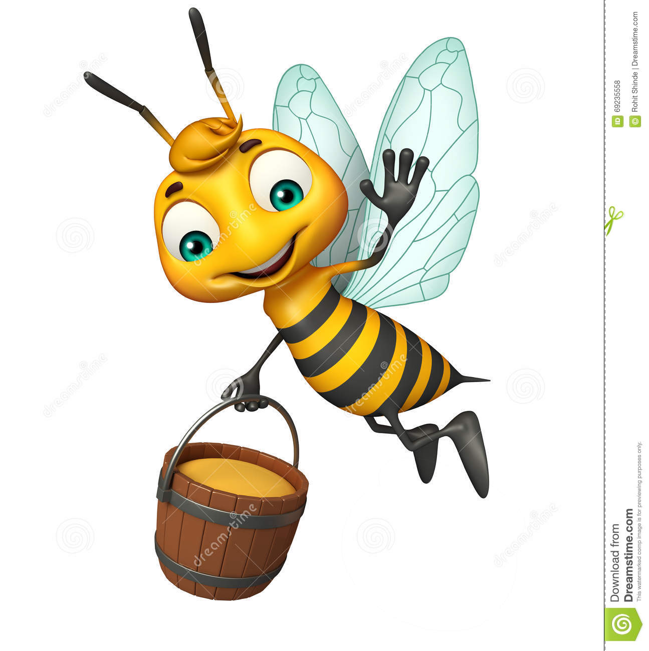 cute bee cartoon character with honey pot stock cute bee clipart black and white funny bee clipart