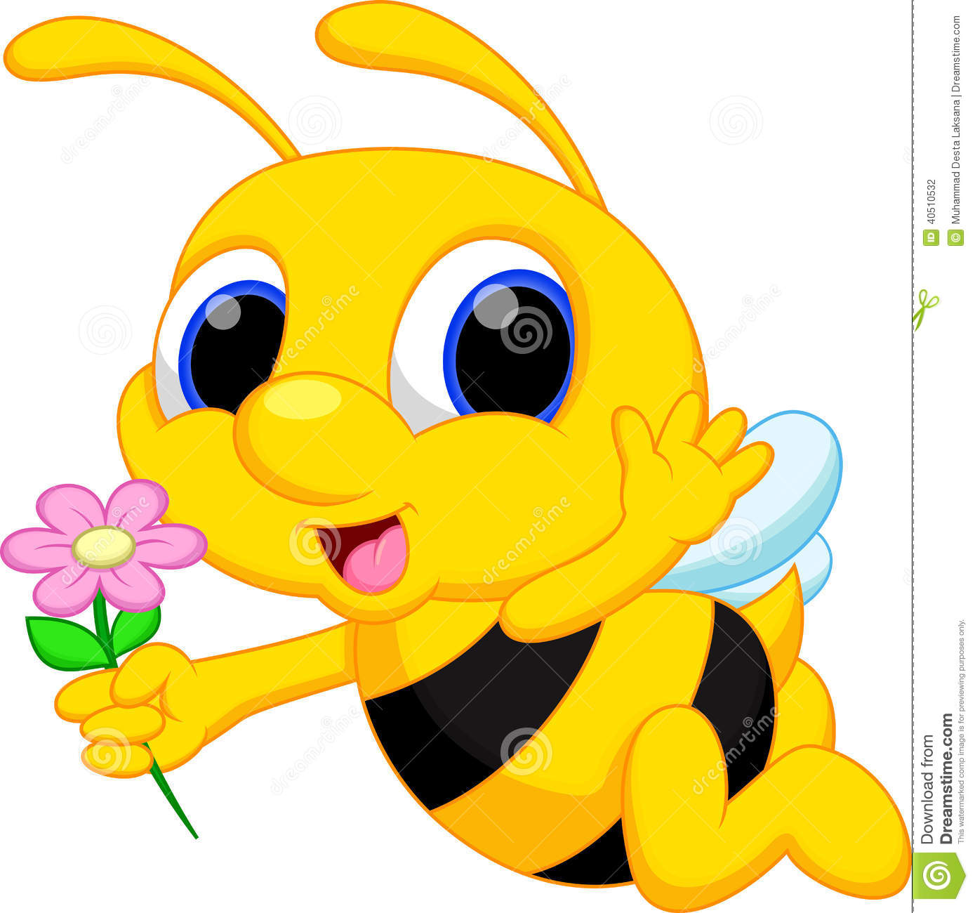 cute bee cartoon stock illustration illustration of bumblebee rh dreamstime com Cute Bumble Bee Bumble Bee Border