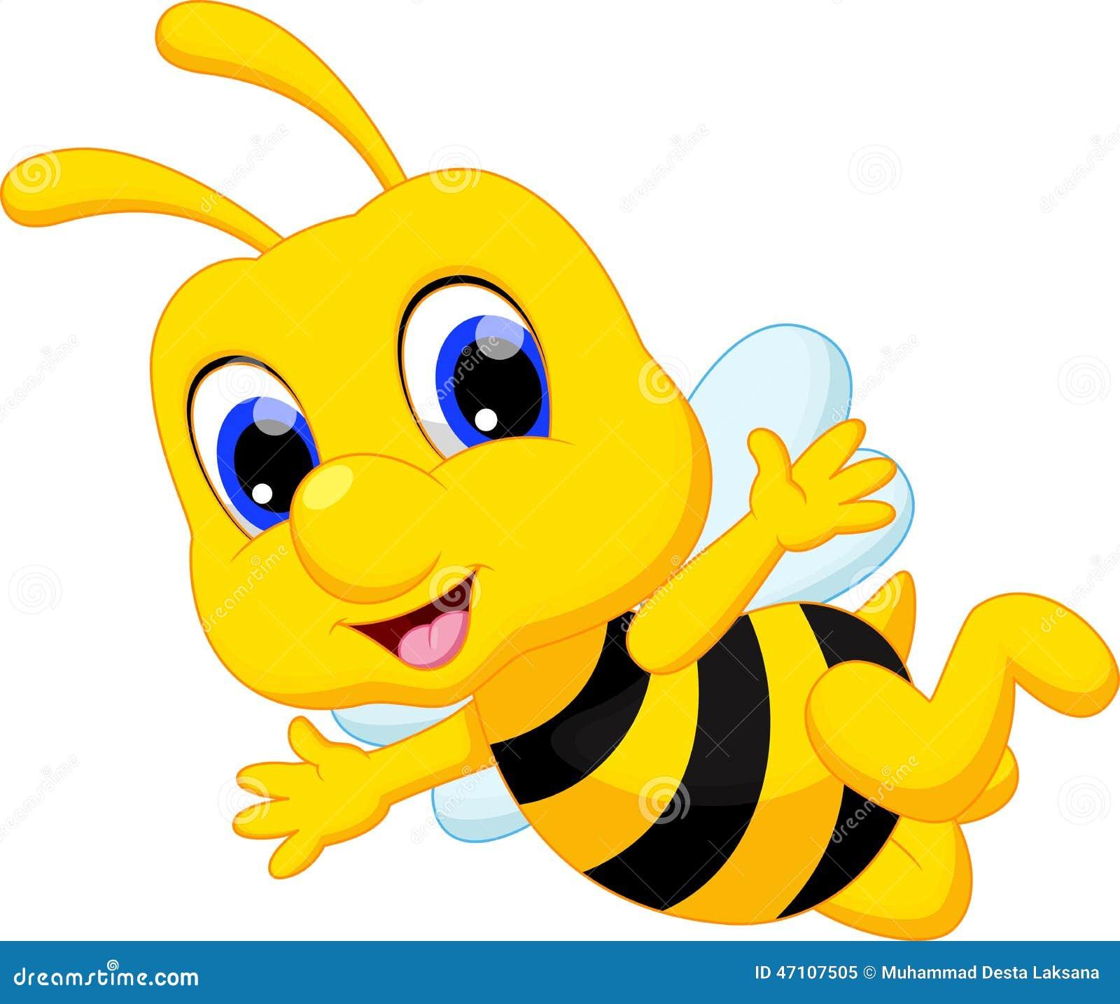 Cute queen bee cartoon stock photography cartoondealer