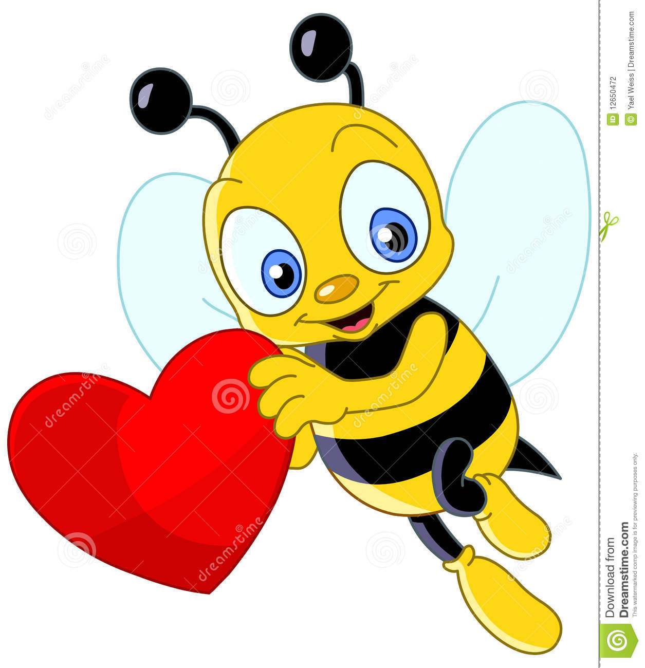 Cute Bee Clipart Heart Images & Pictures - Becuo