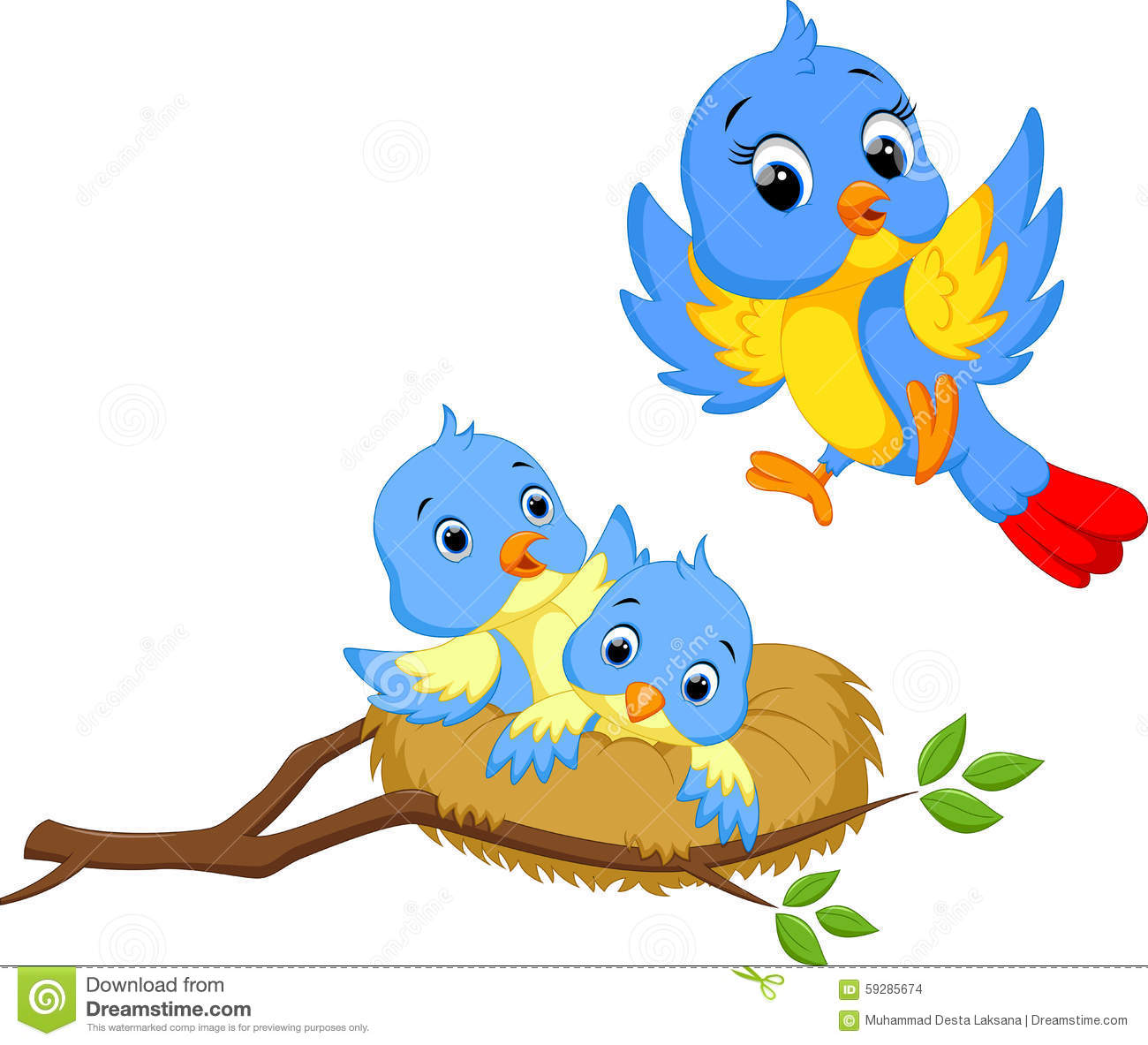 Cute Bird Cartoon Stock Illustration - Image: 59285674