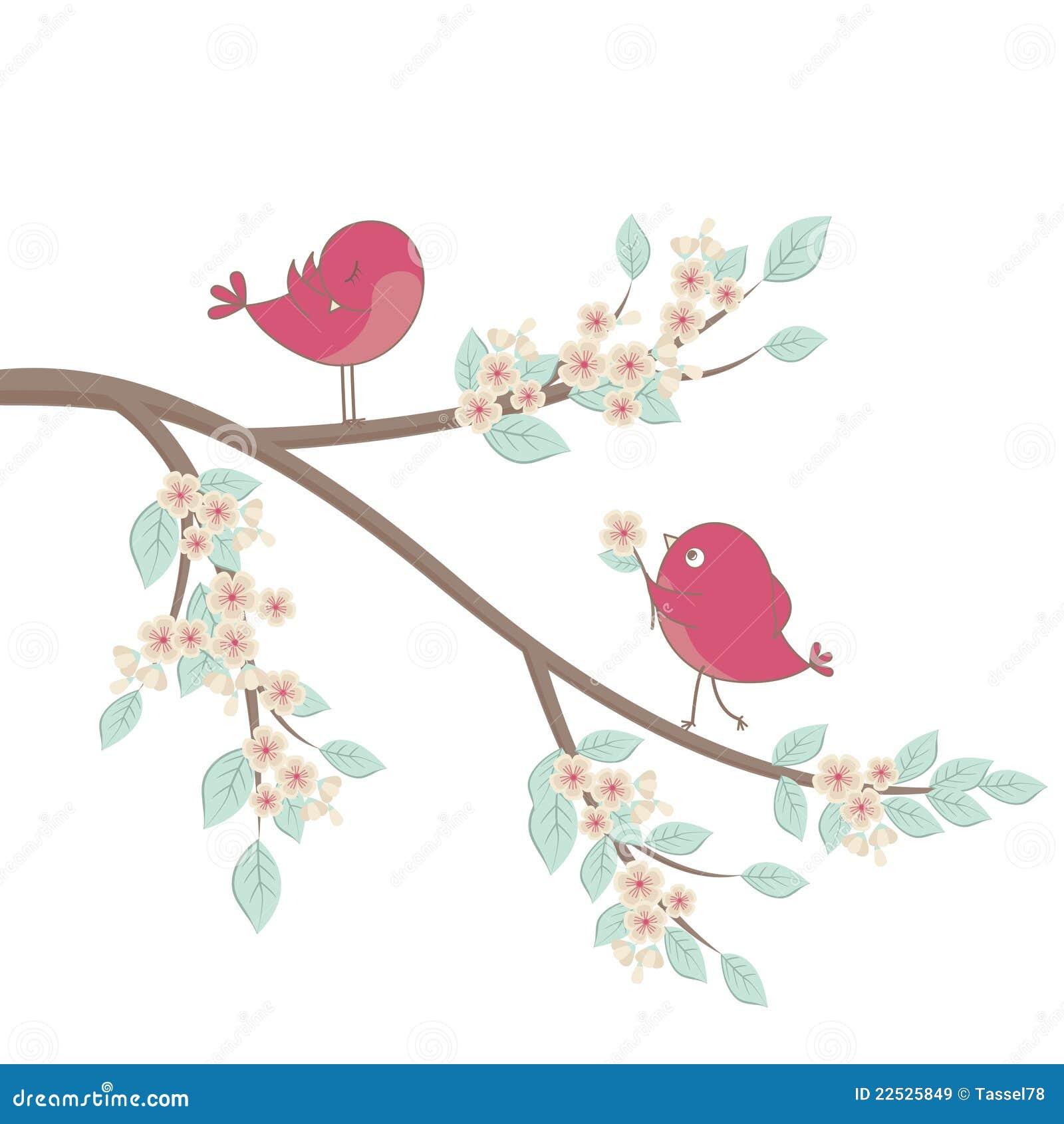 Cute Birds In Love Stock Vector Illustration Of Romantic 22525849